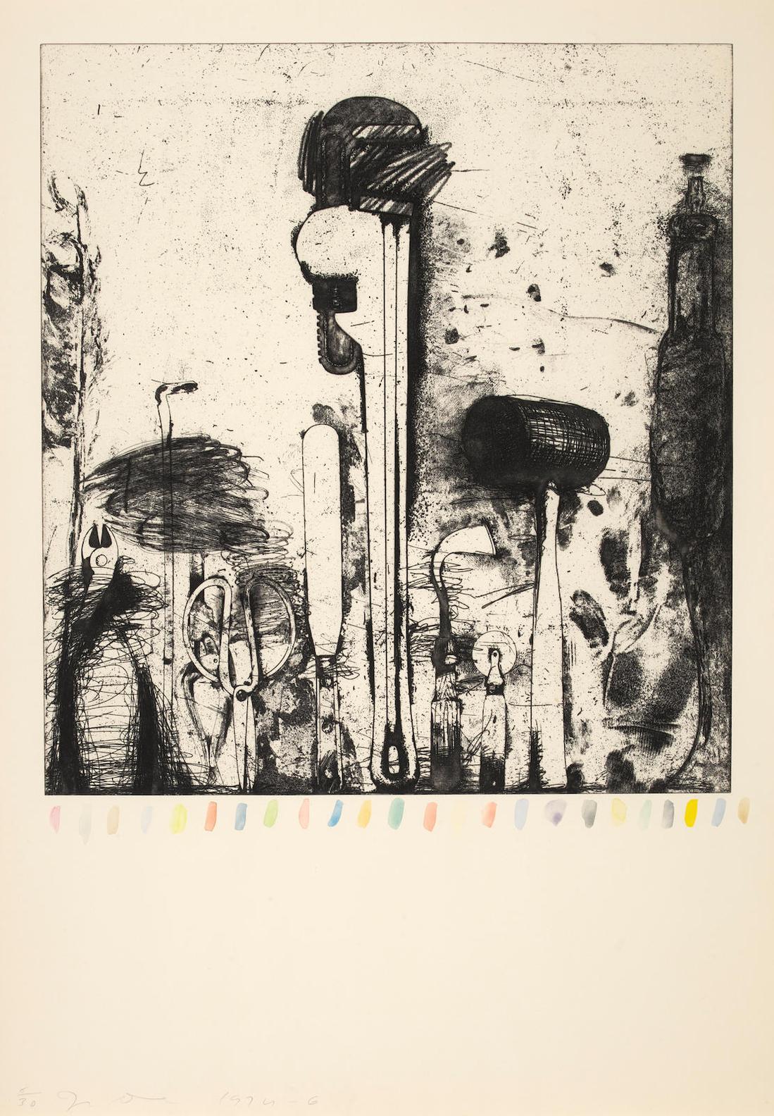 Jim Dine-Piranesis 24 Colored Marks-1976