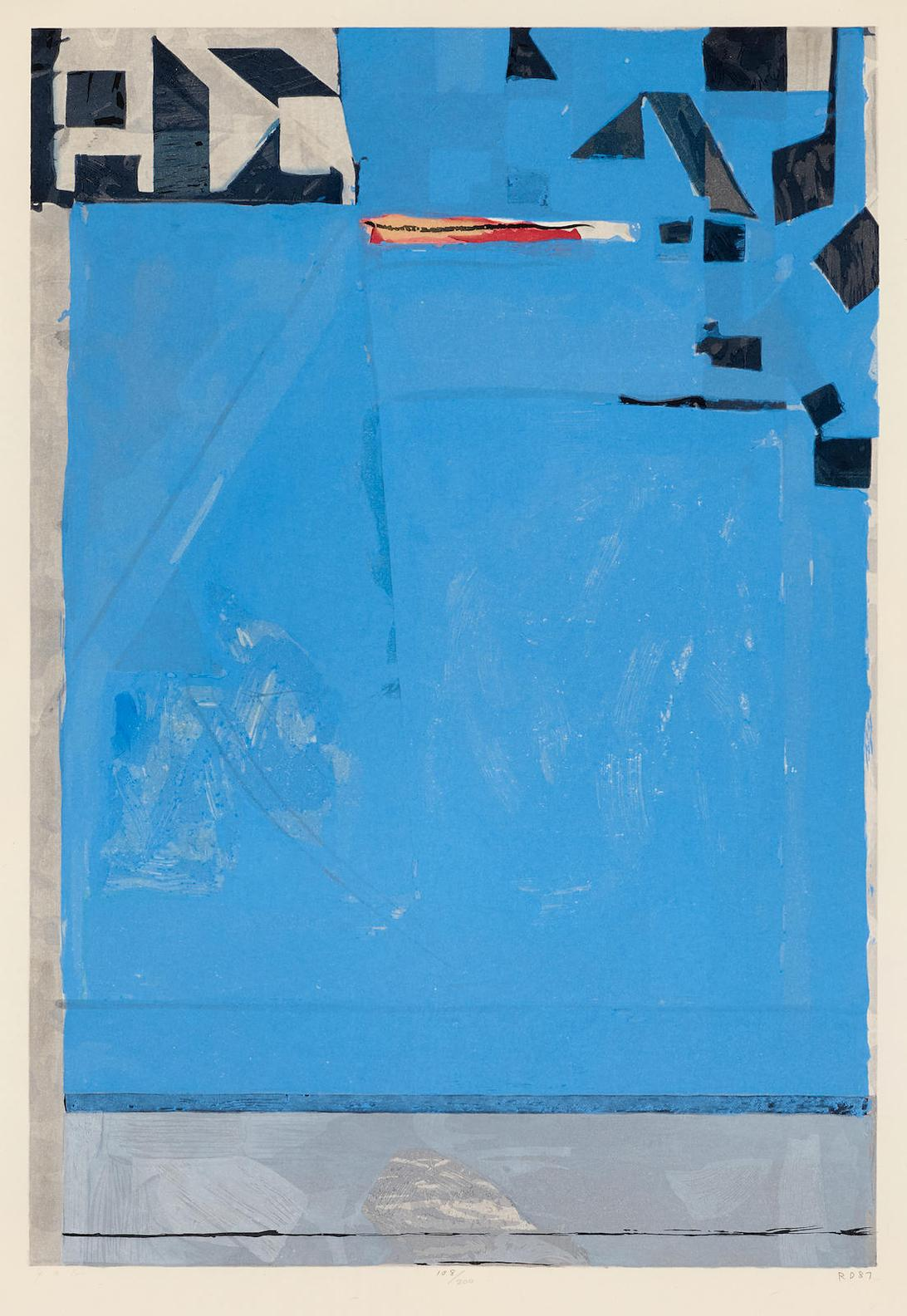 Richard Diebenkorn-Blue With Red-1987