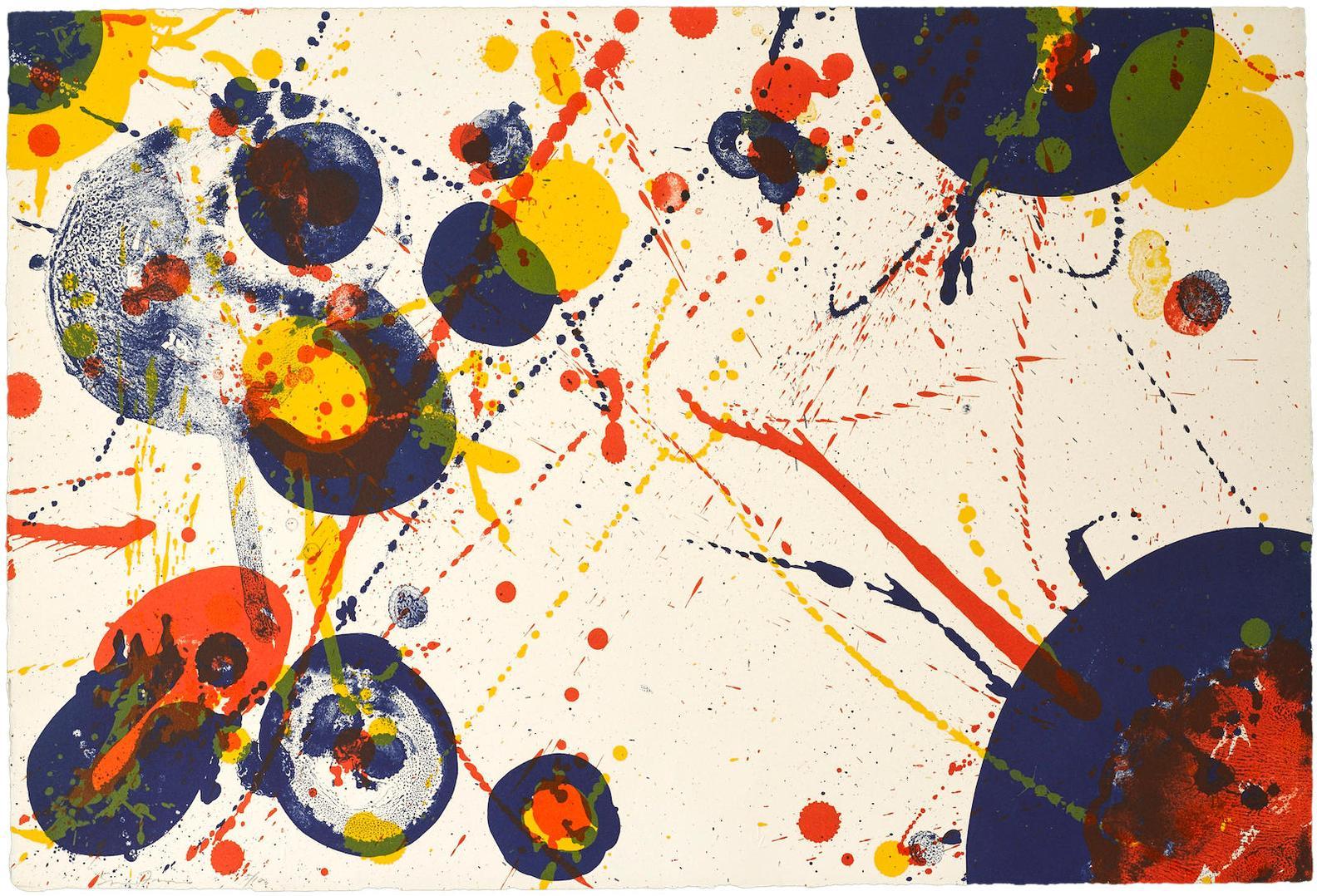 Sam Francis-Pl. 7, From Pasadena Box Suite-1963