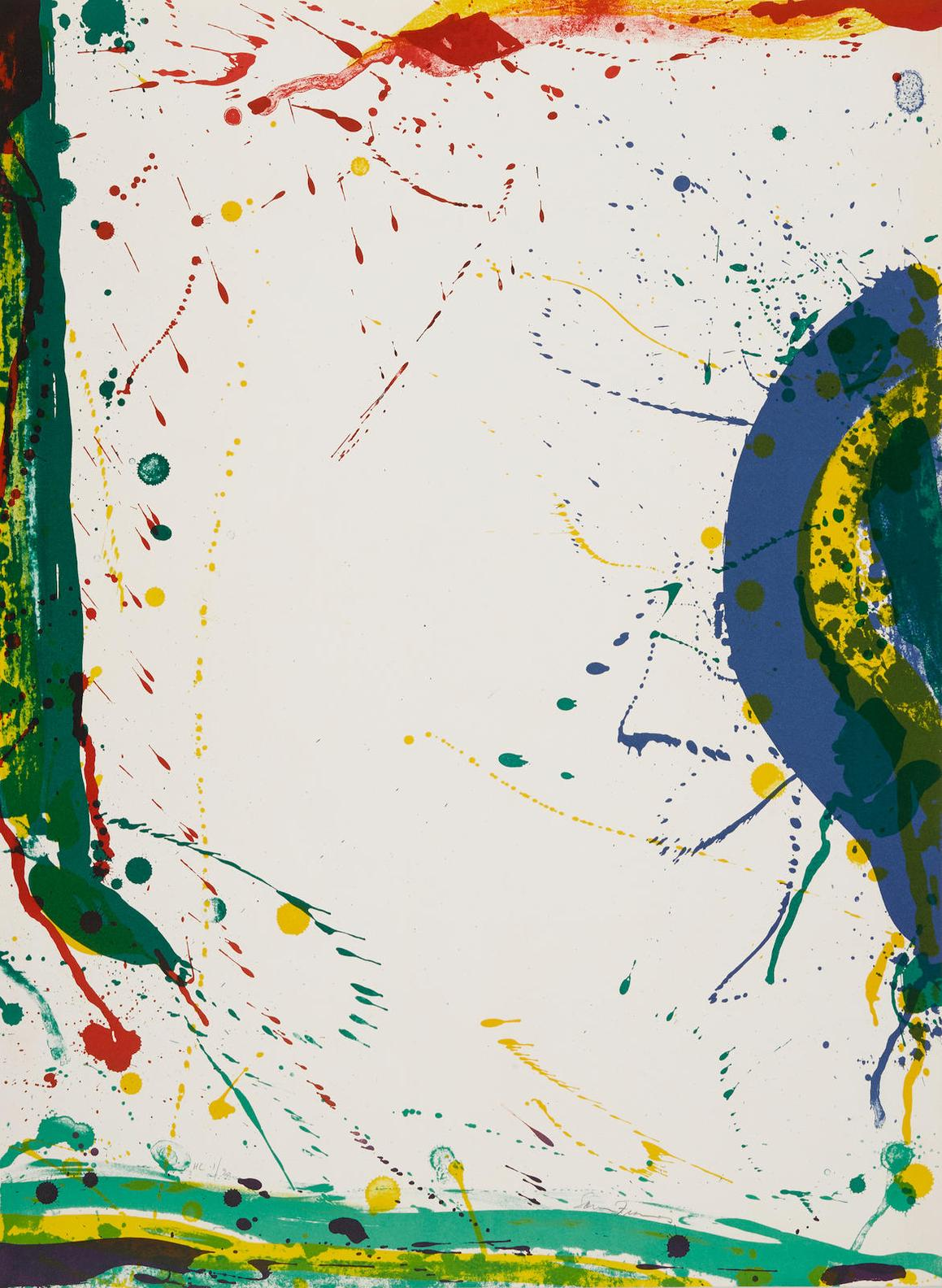 Sam Francis-Untitled, From Michel Waldberg: Poemes Dans Le Ciel-1986