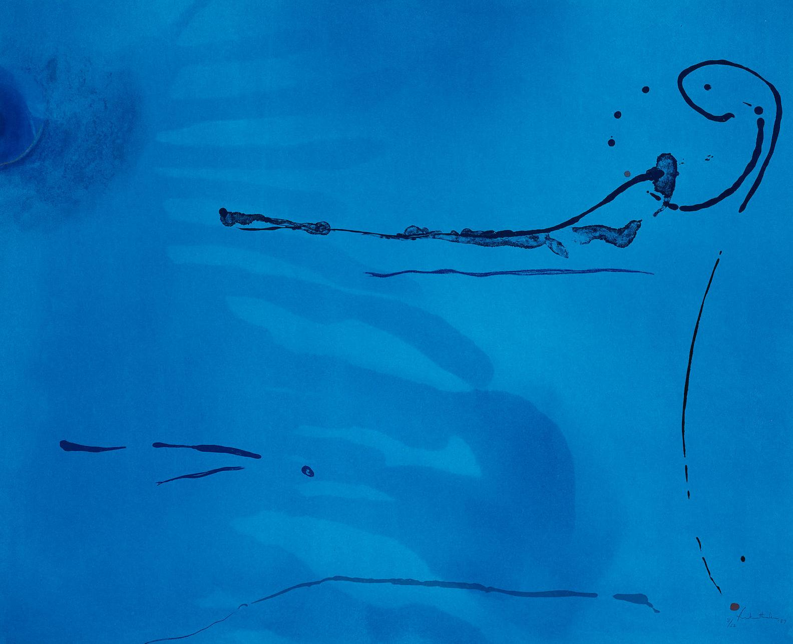 Helen Frankenthaler-Blue Current-1987