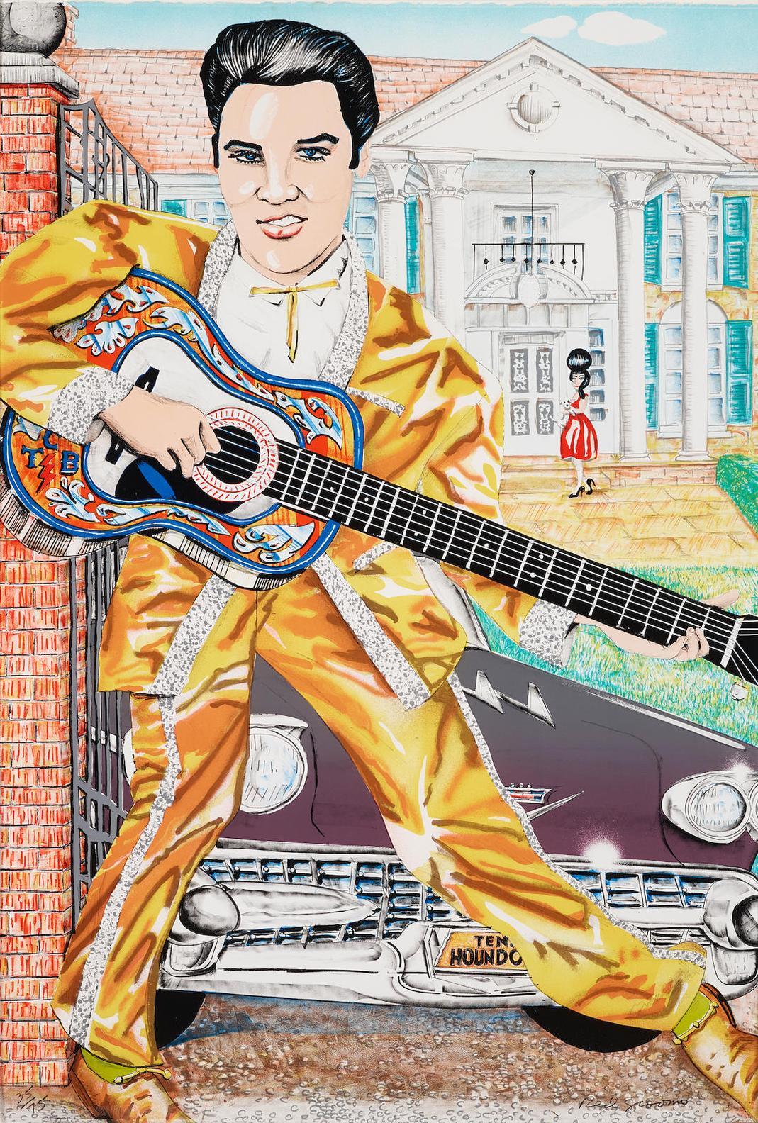 Red Grooms-Elvis-1987
