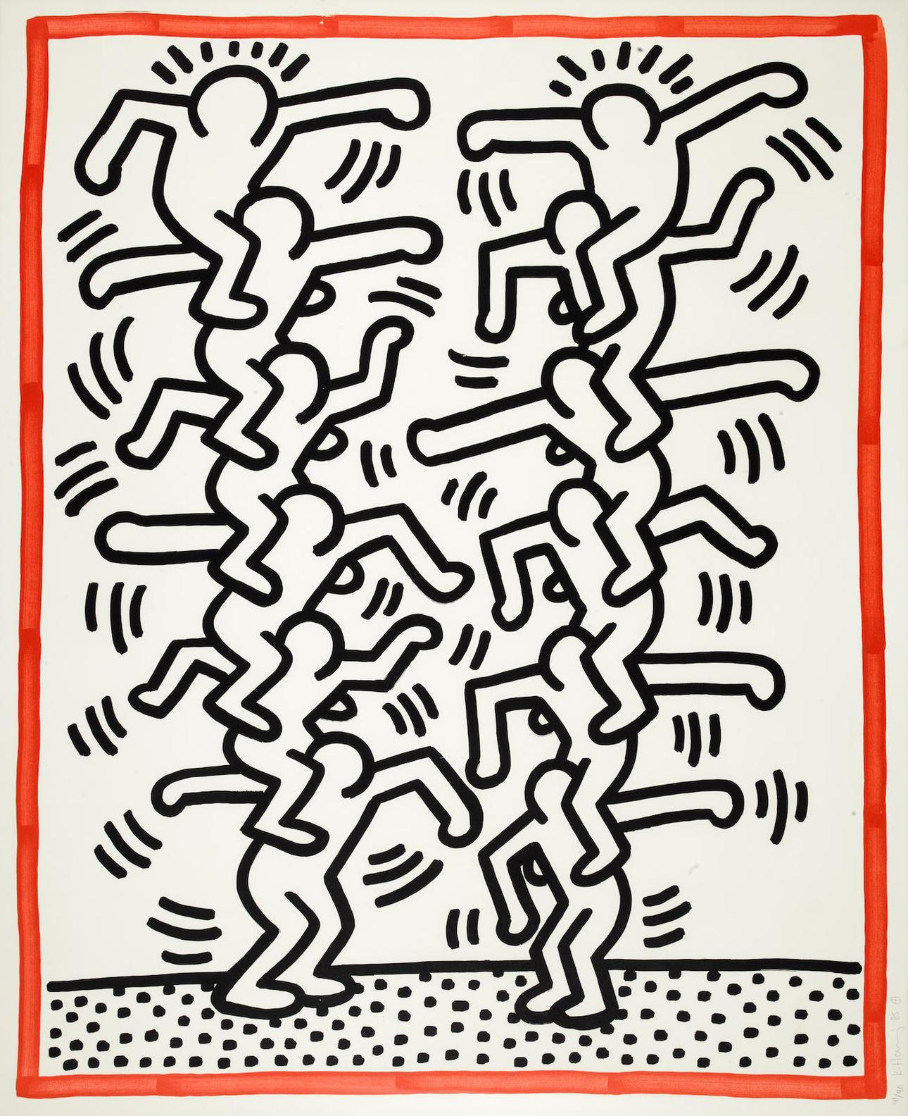 Keith Haring-Pl. 3, From Three Lithographs-1985