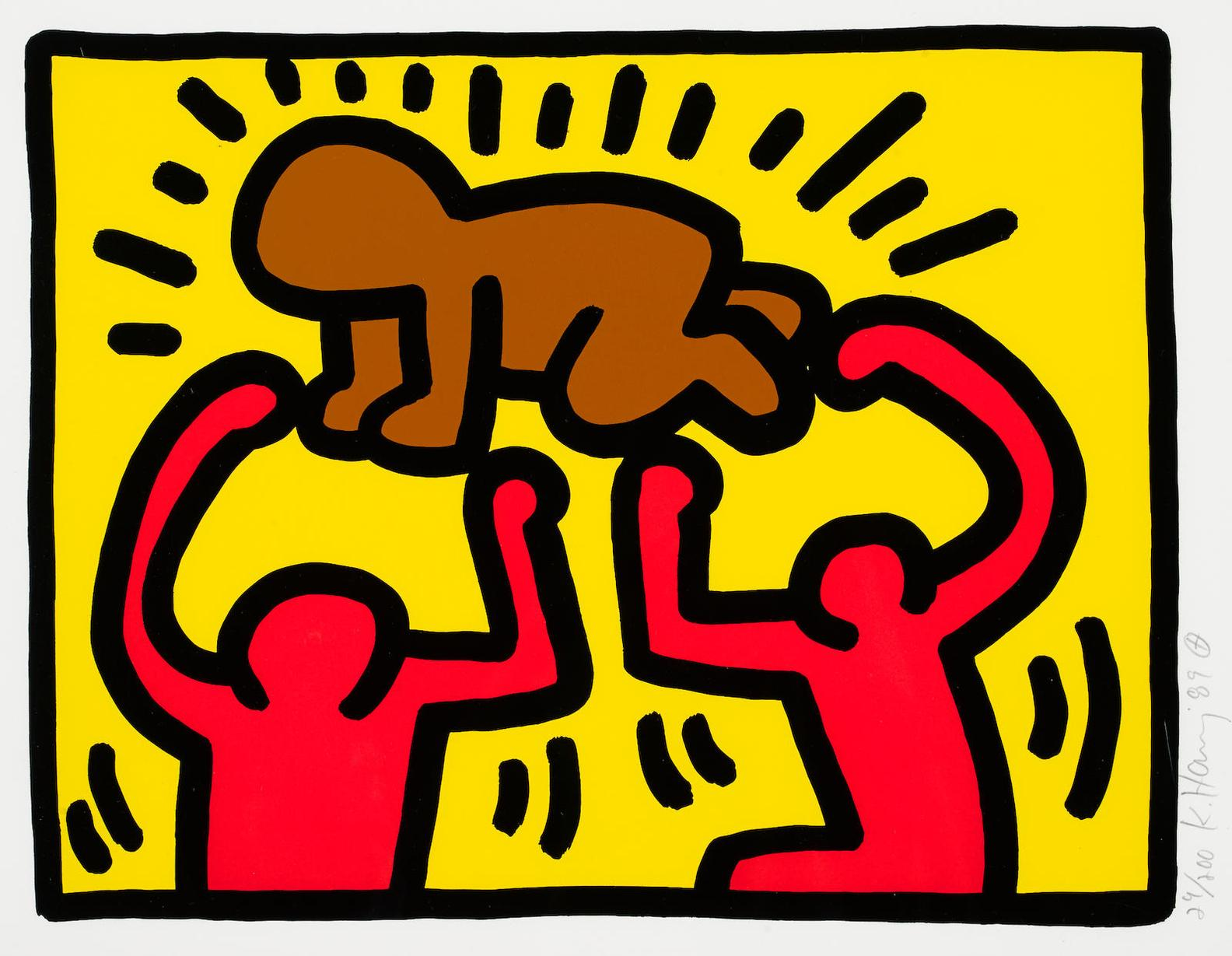 Keith Haring-Pl. 2, From Pop Shop IV-1989
