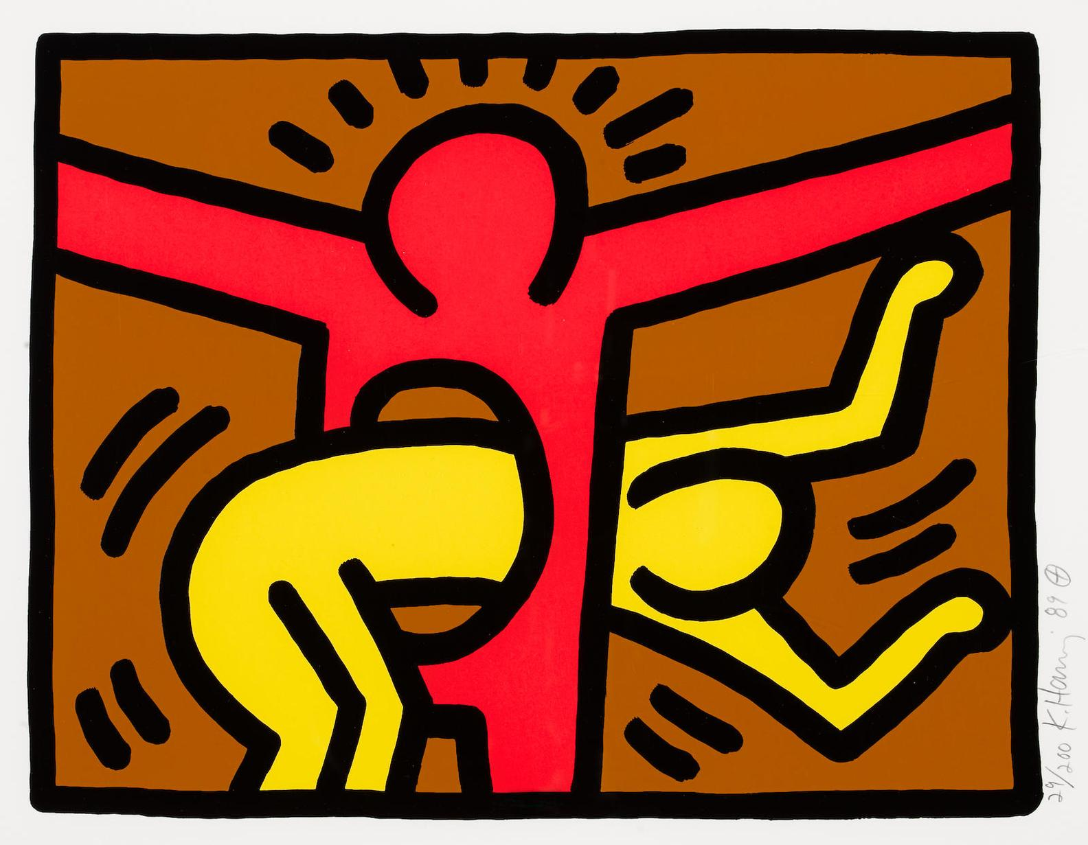 Keith Haring-Pl. 3, From Pop Shop IV-1989