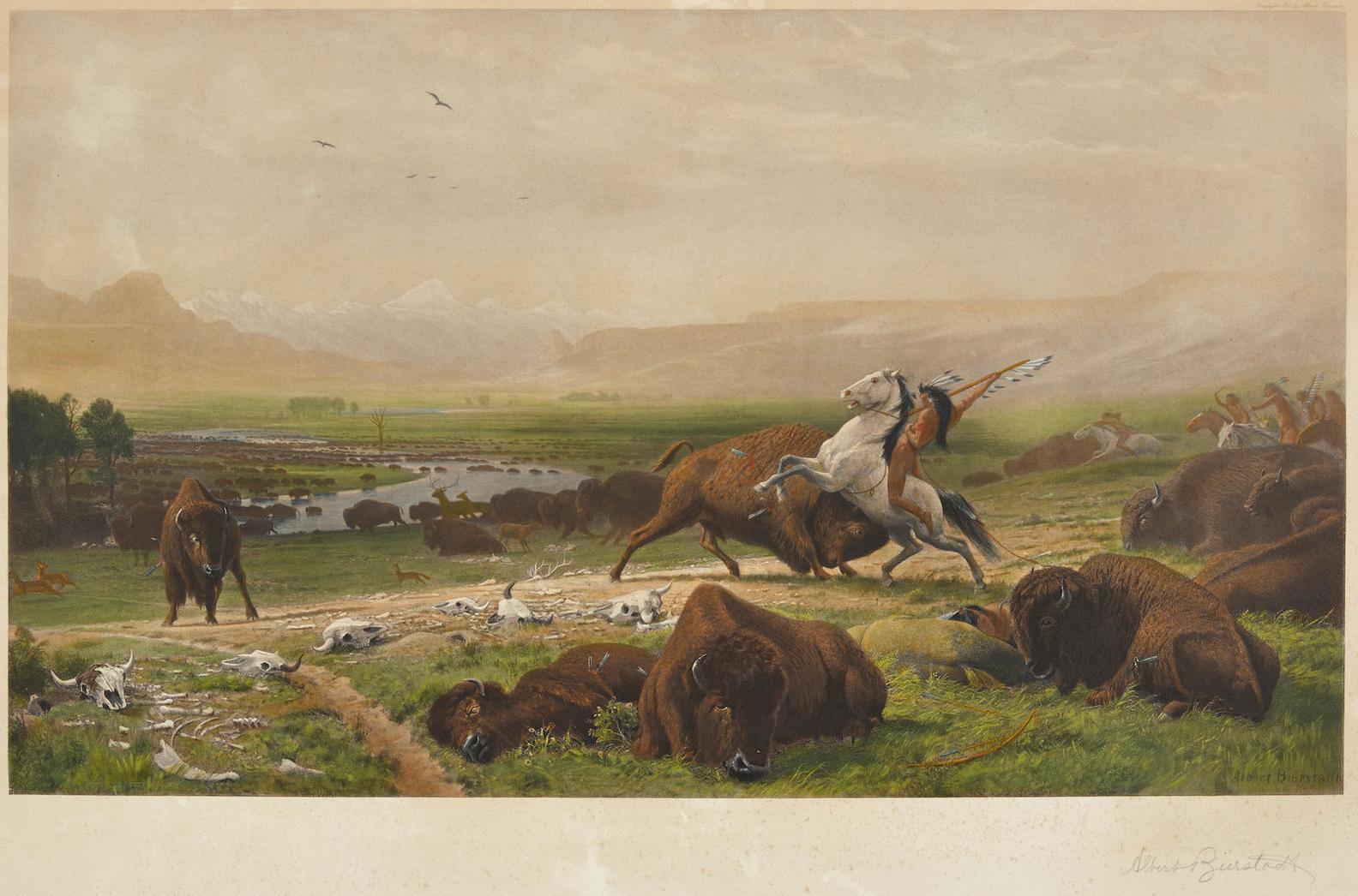 After Albert Bierstadt - Last Of The Buffalo-1891