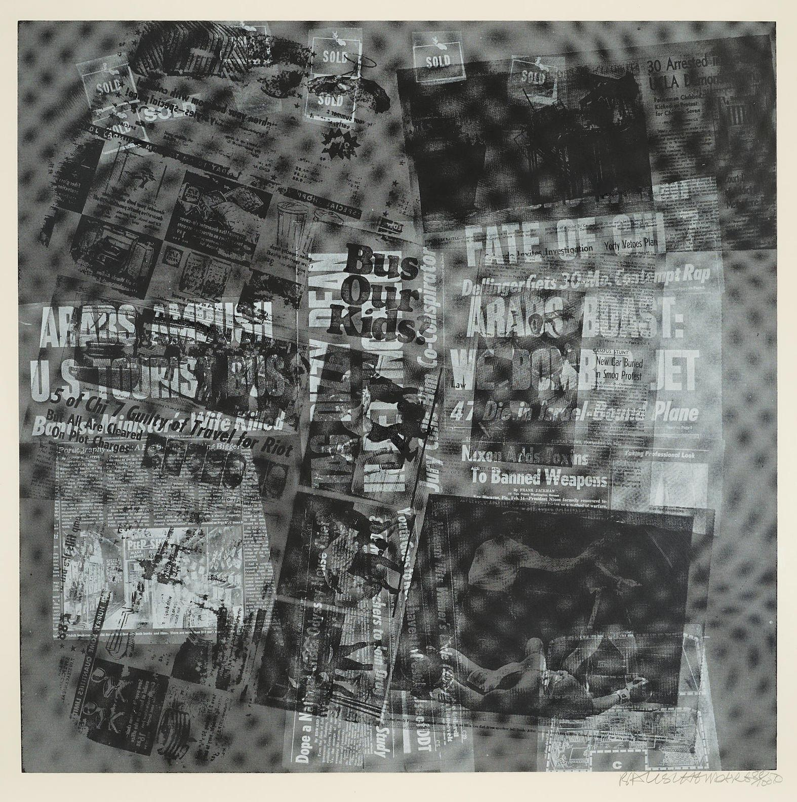 Robert Rauschenberg-Two Plates, From Surface Series From Currents 2-1970