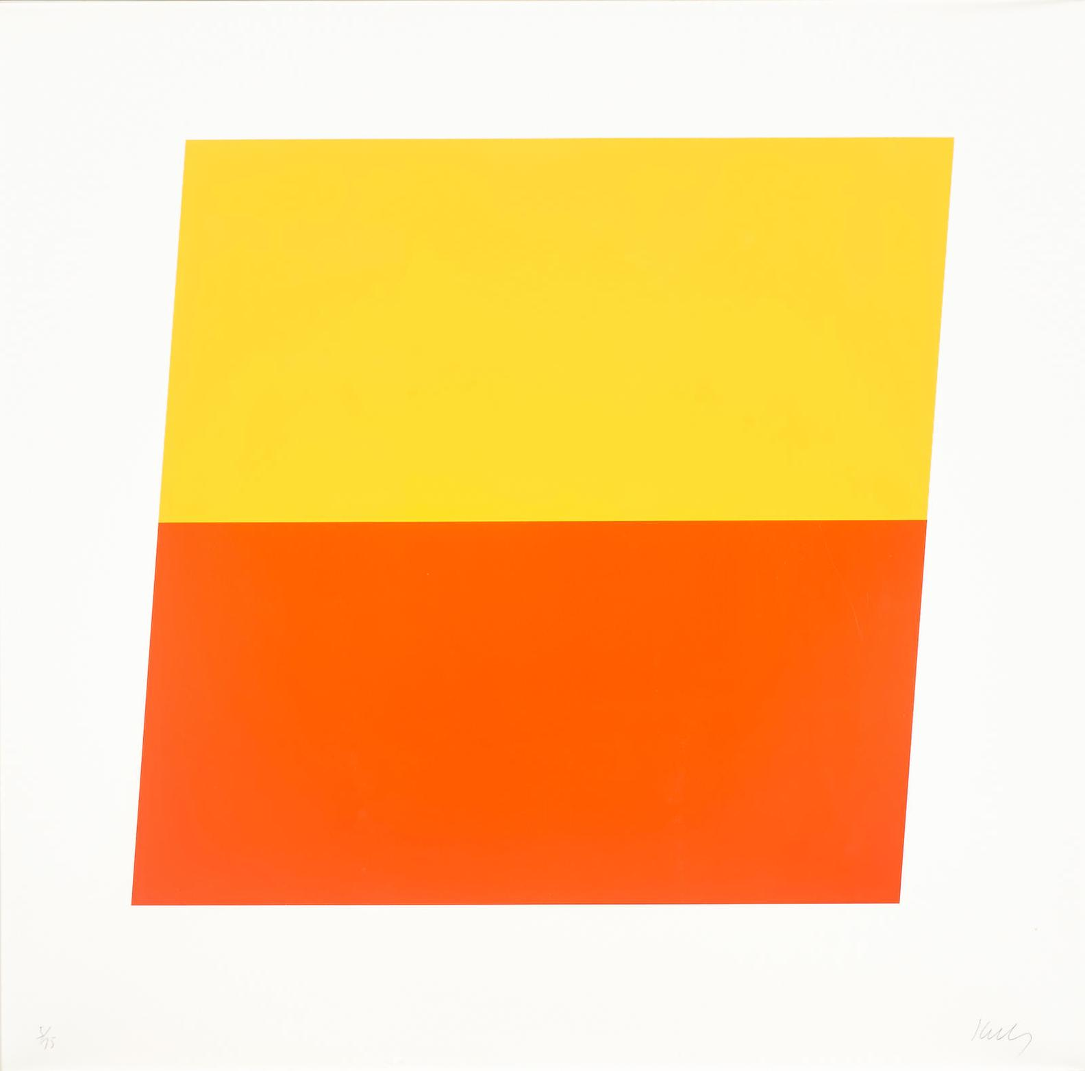 Ellsworth Kelly-Yellow/Red-Orange-1970