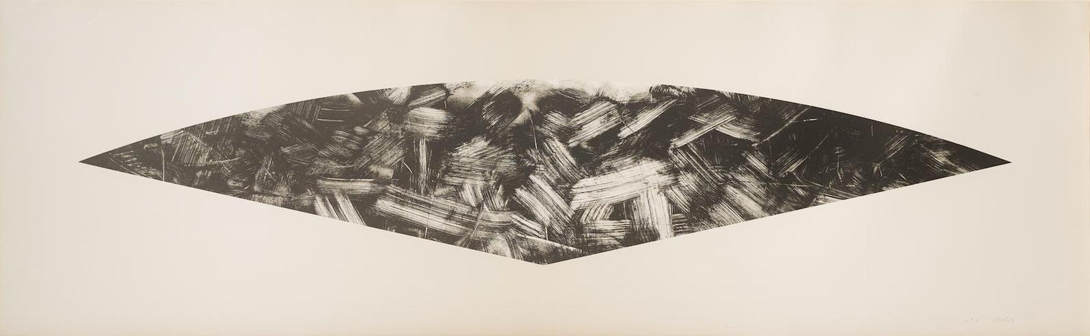 Ellsworth Kelly-Dark Gray Curve (State I)-1988