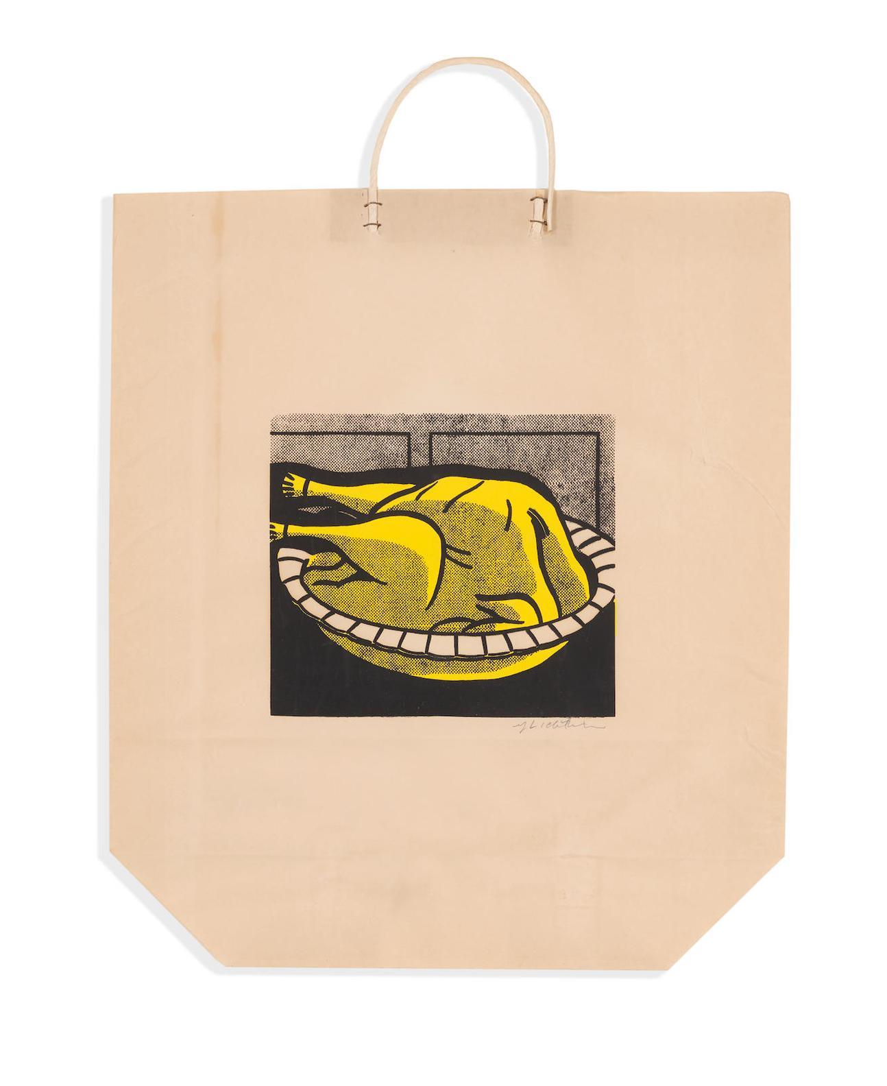 Roy Lichtenstein-Turkey Shopping Bag-1964