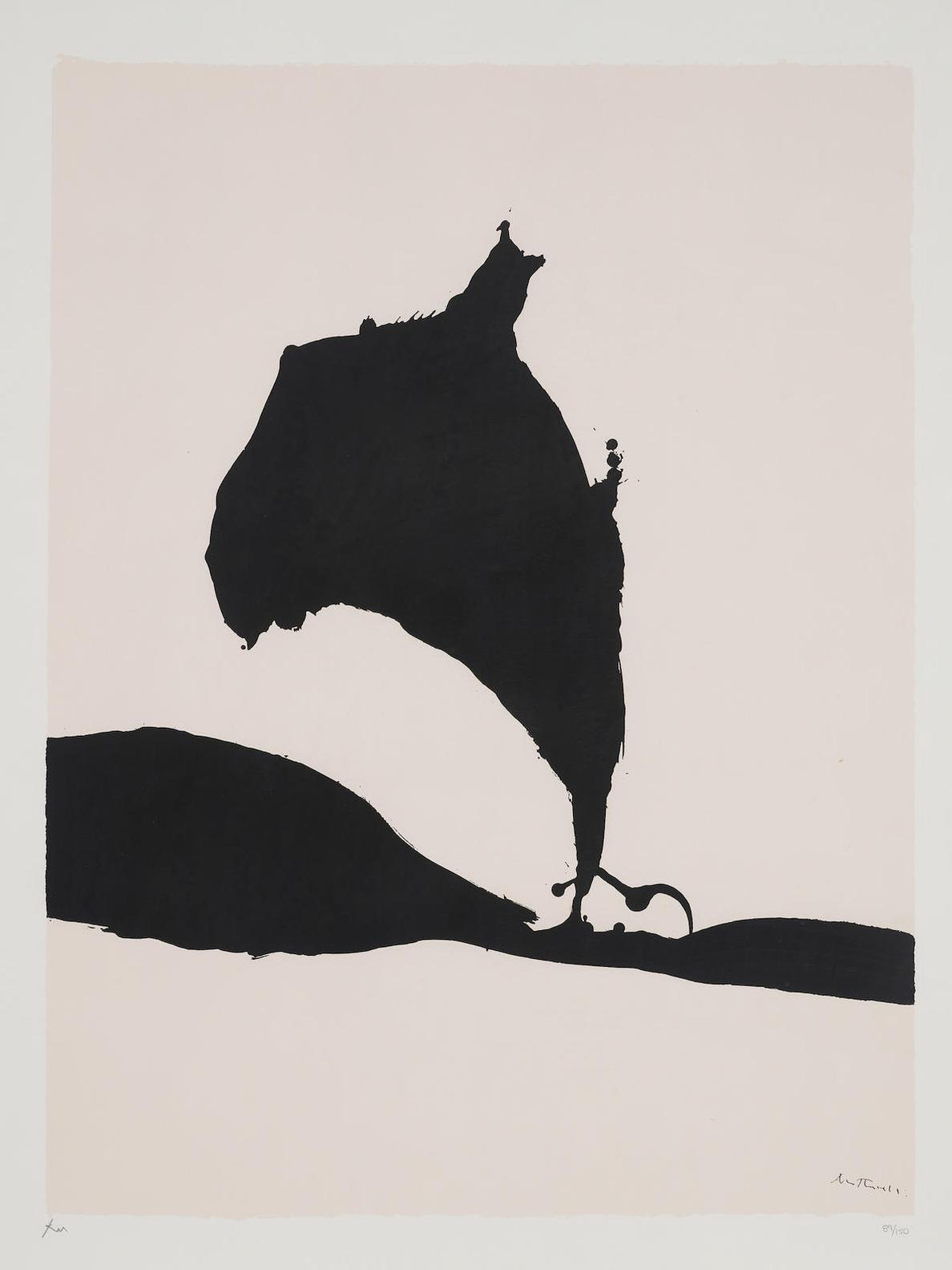 Robert Motherwell-Africa 9, From Africa Series-1970