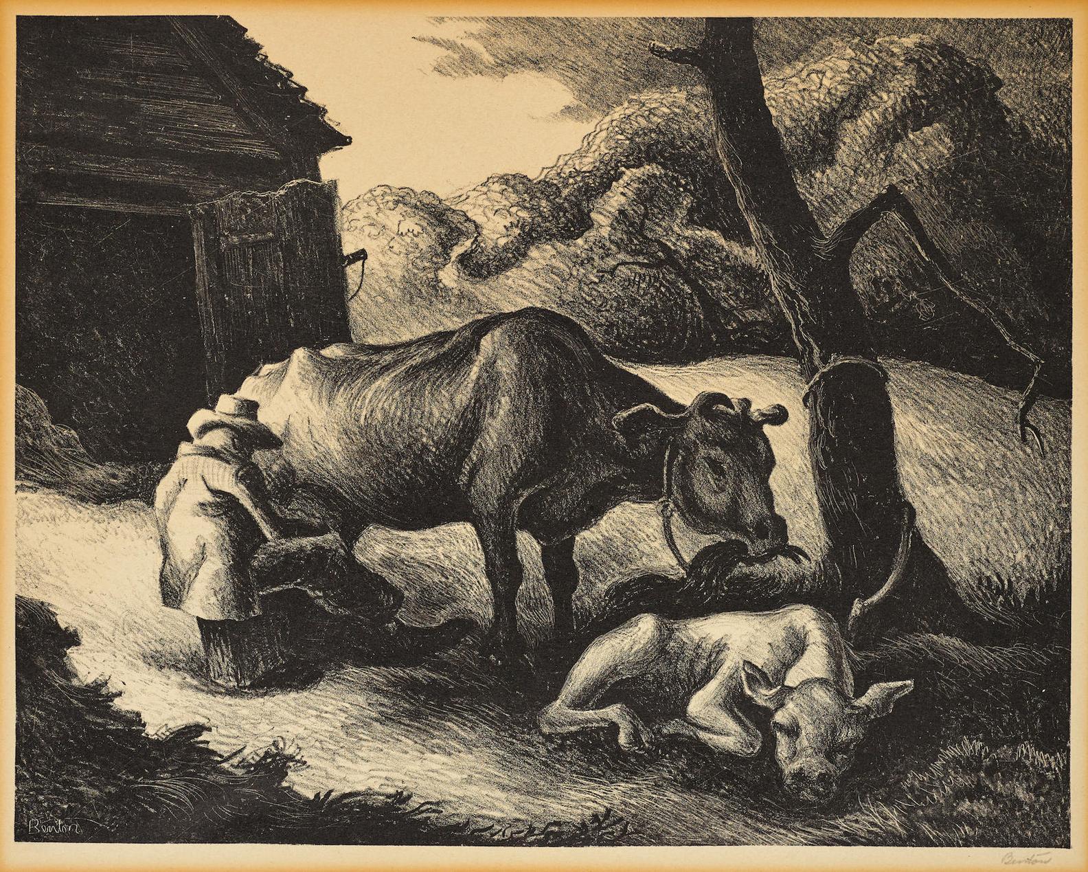 Thomas Hart Benton-White Calf-1945