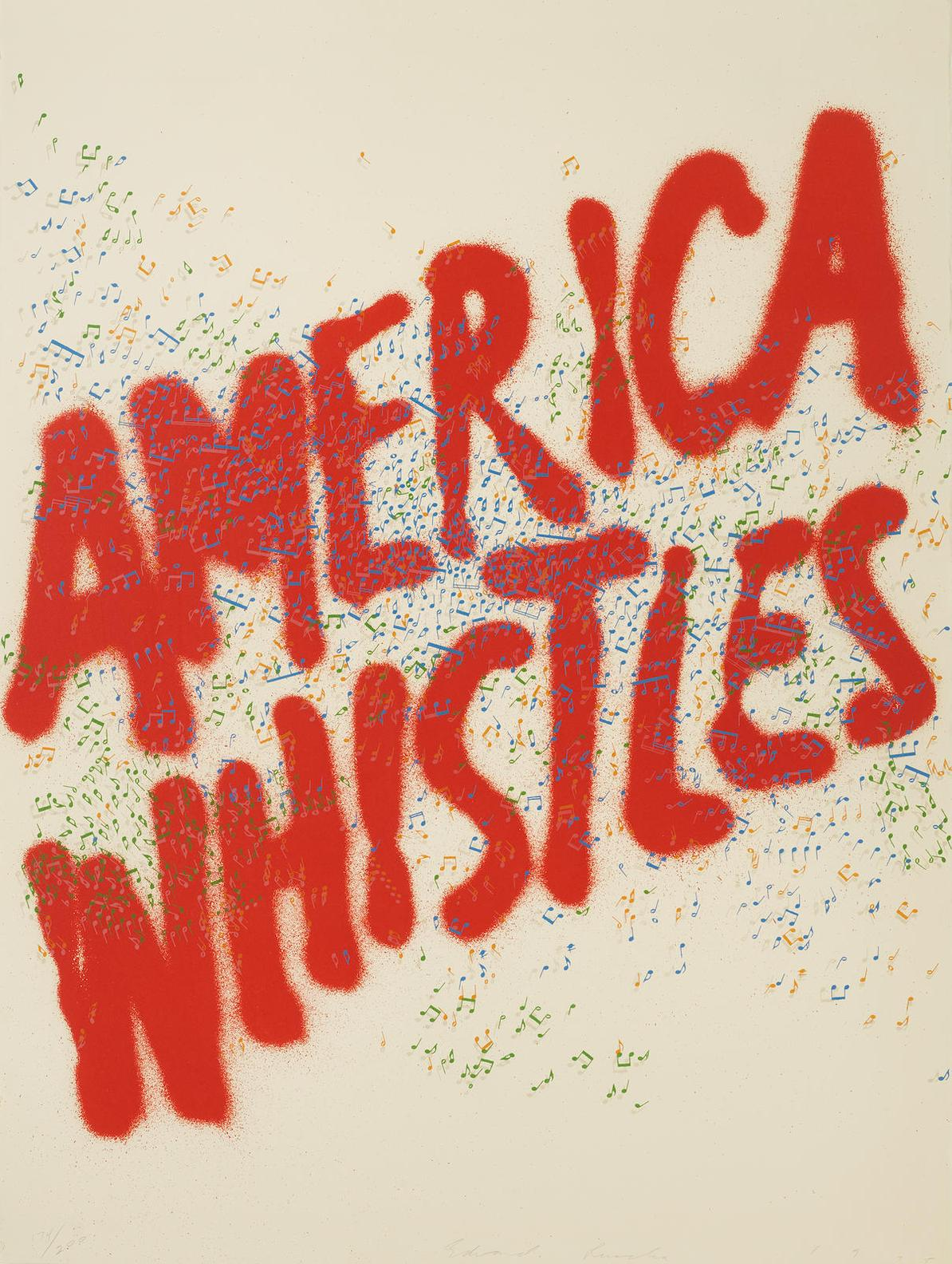 Ed Ruscha-America Whistles, From America: The Third Century-1975