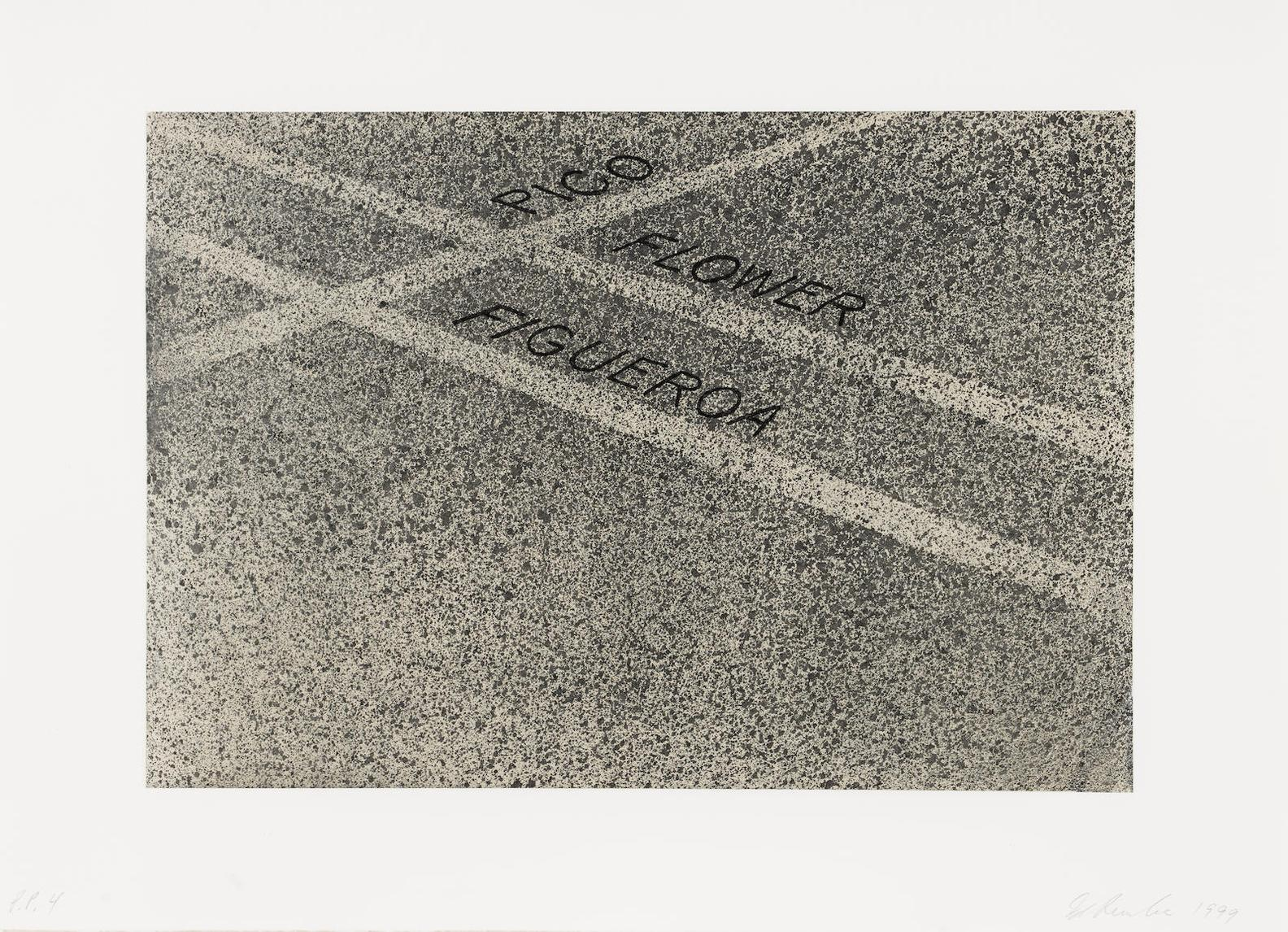 Ed Ruscha-Pico, Flower, Figueroa, From The Moca Portfolio-1999