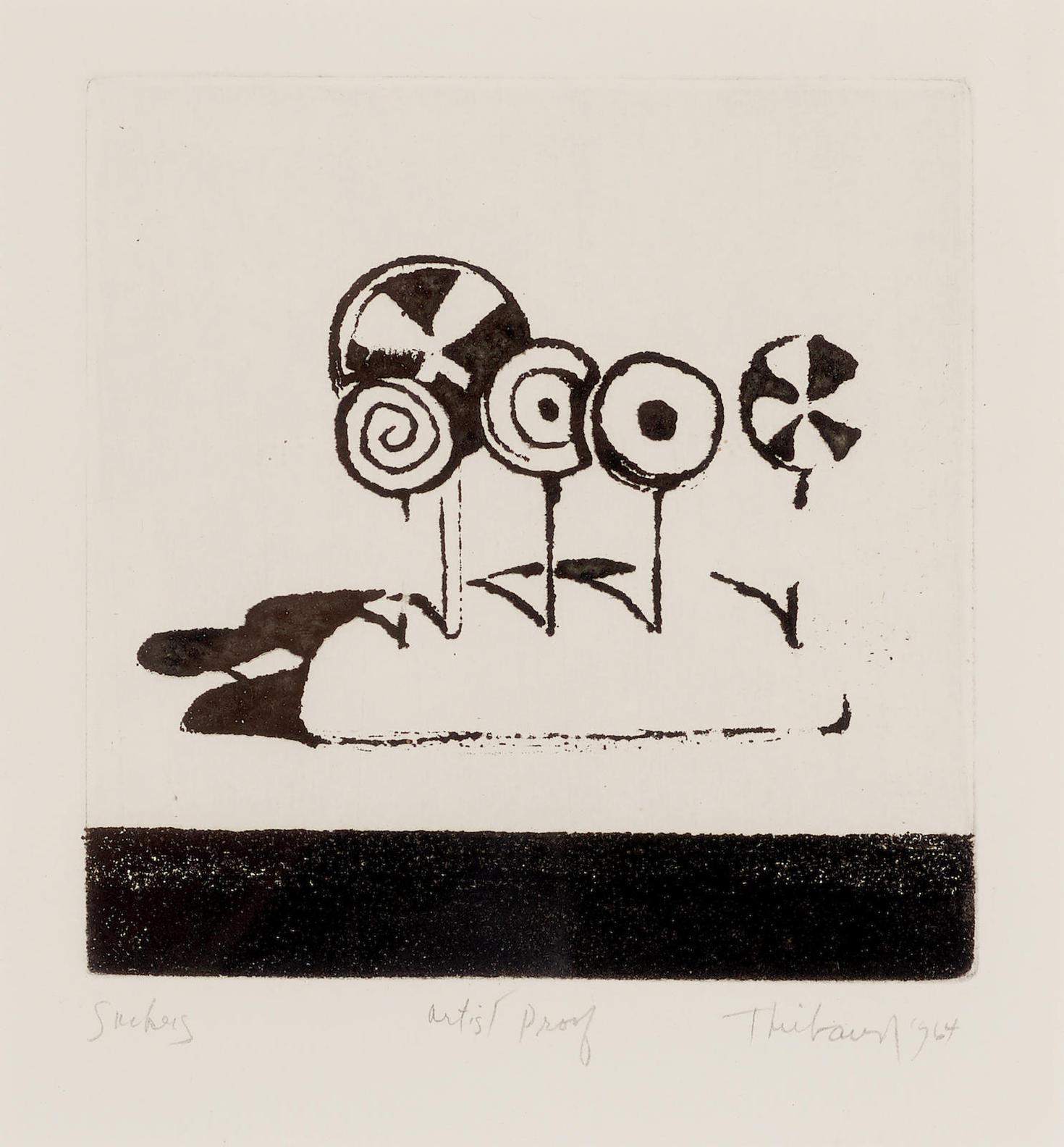 Wayne Thiebaud-Suckers, From Delights-1964