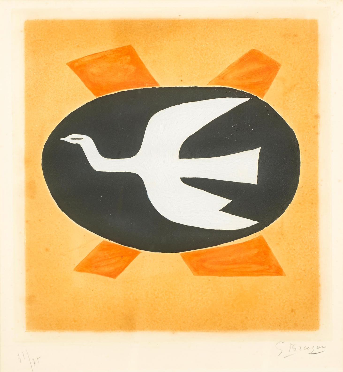 Georges Braque-Loiseau De Feu (Oiseau XIII)-1958