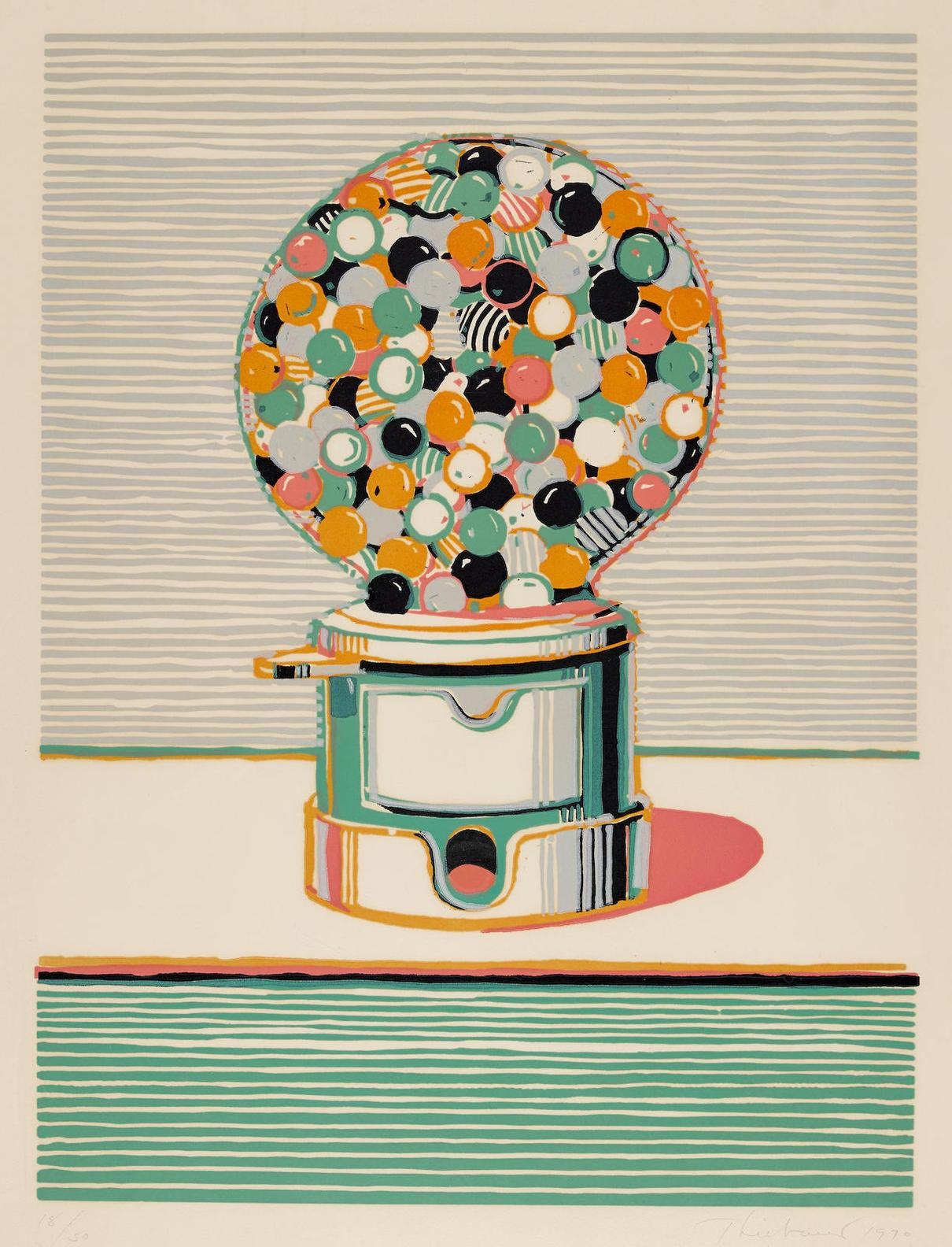 Wayne Thiebaud-Gumball Machine, From Seven Still Lifes And A Silver Landscape-1970