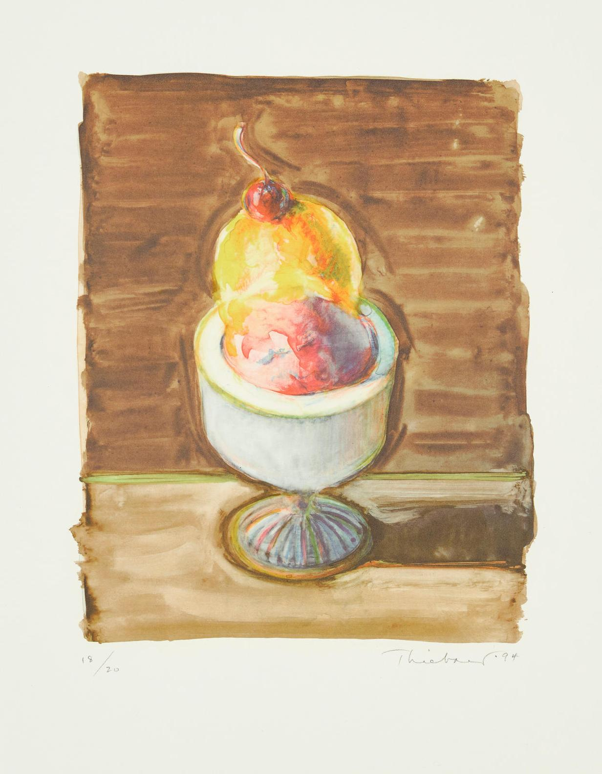 Wayne Thiebaud-Sorbet, From The Physiology Of Taste-1994