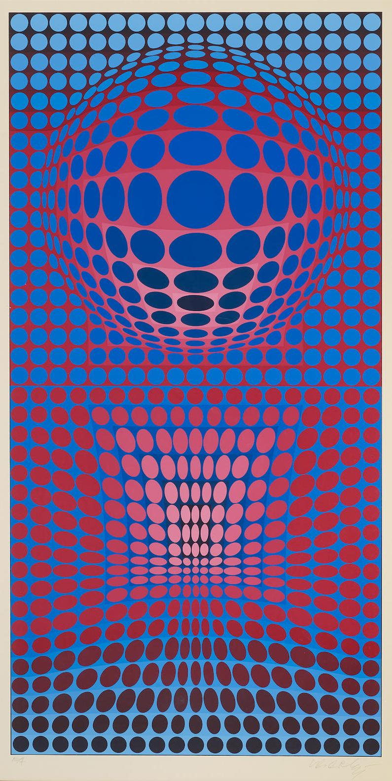 Victor Vasarely-Two Plates, From Vp Series 2-1972
