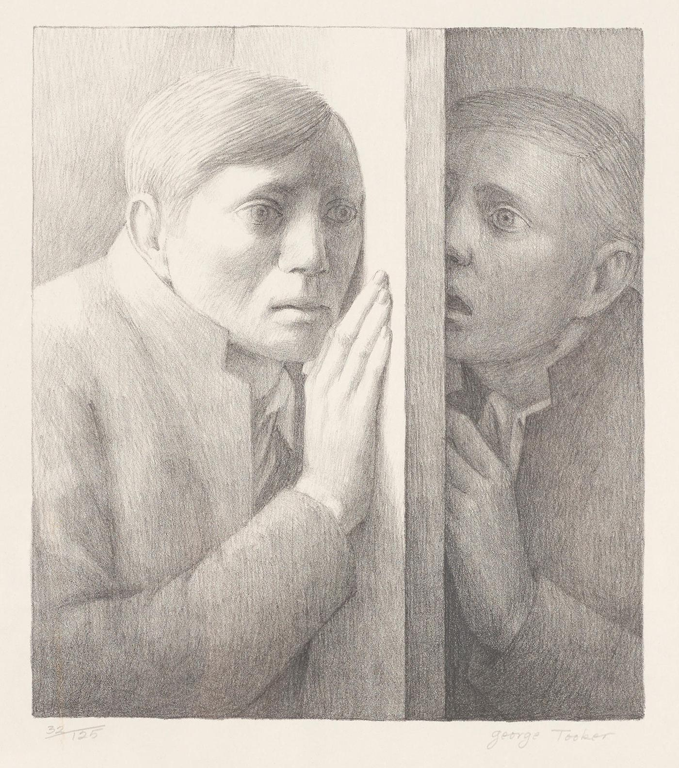 George Tooker-Voice; Lovers; Self-Portrait I 3-1984
