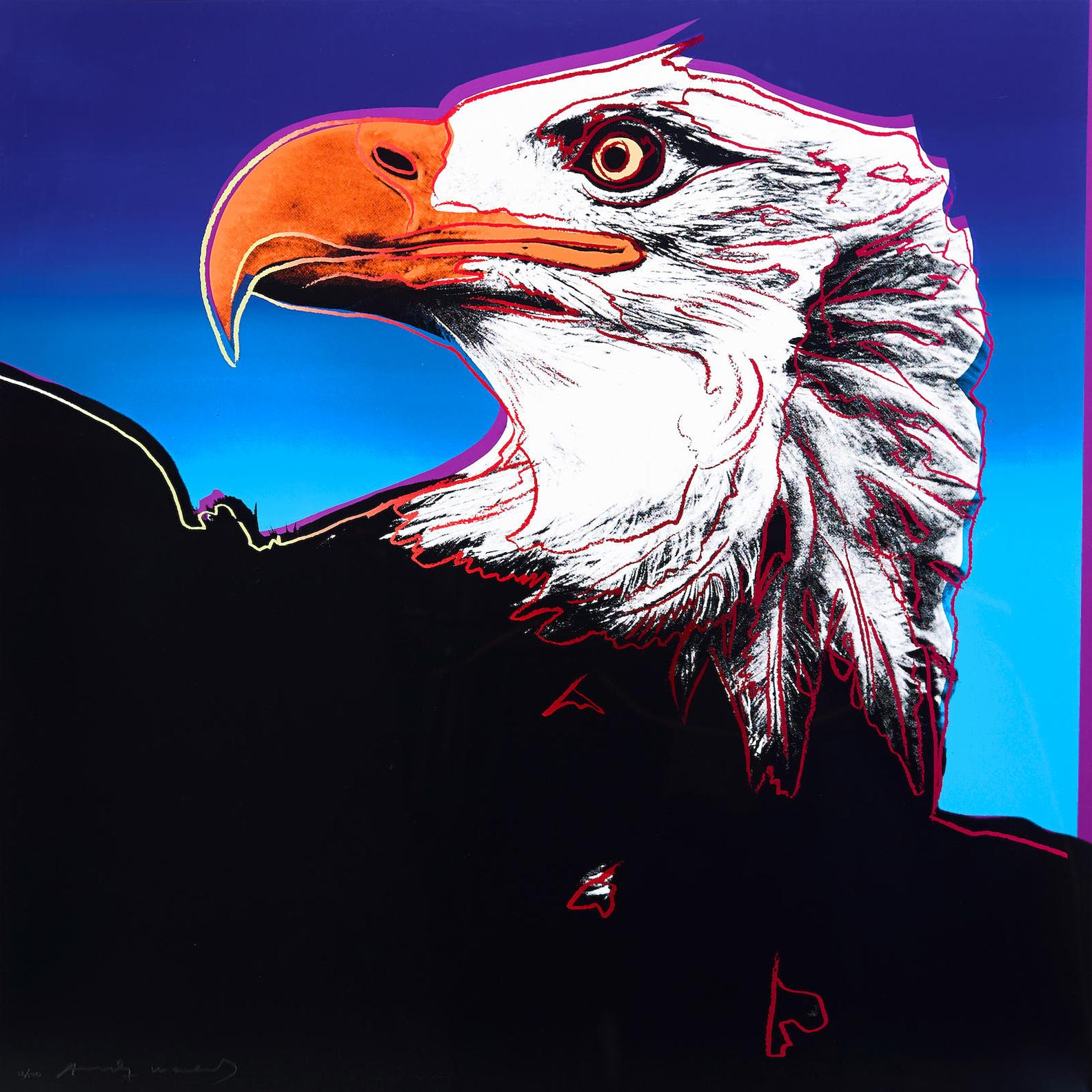 Andy Warhol-Bald Eagle, From Endangered Species-1983