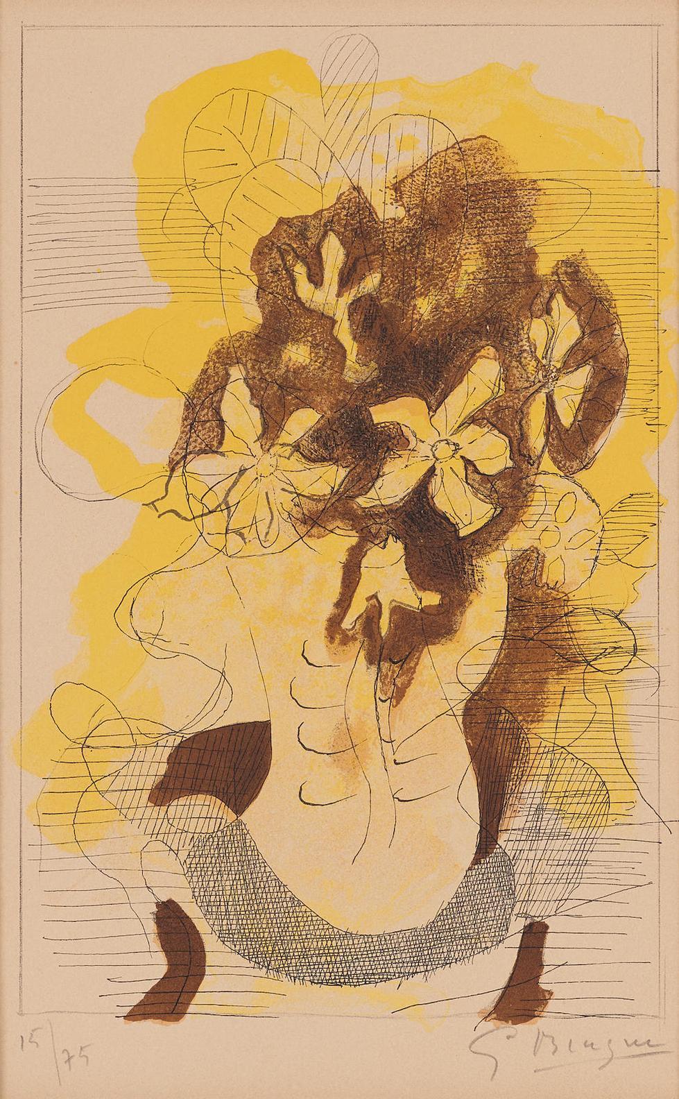 After Georges Braque - Les Jonquilles-1955