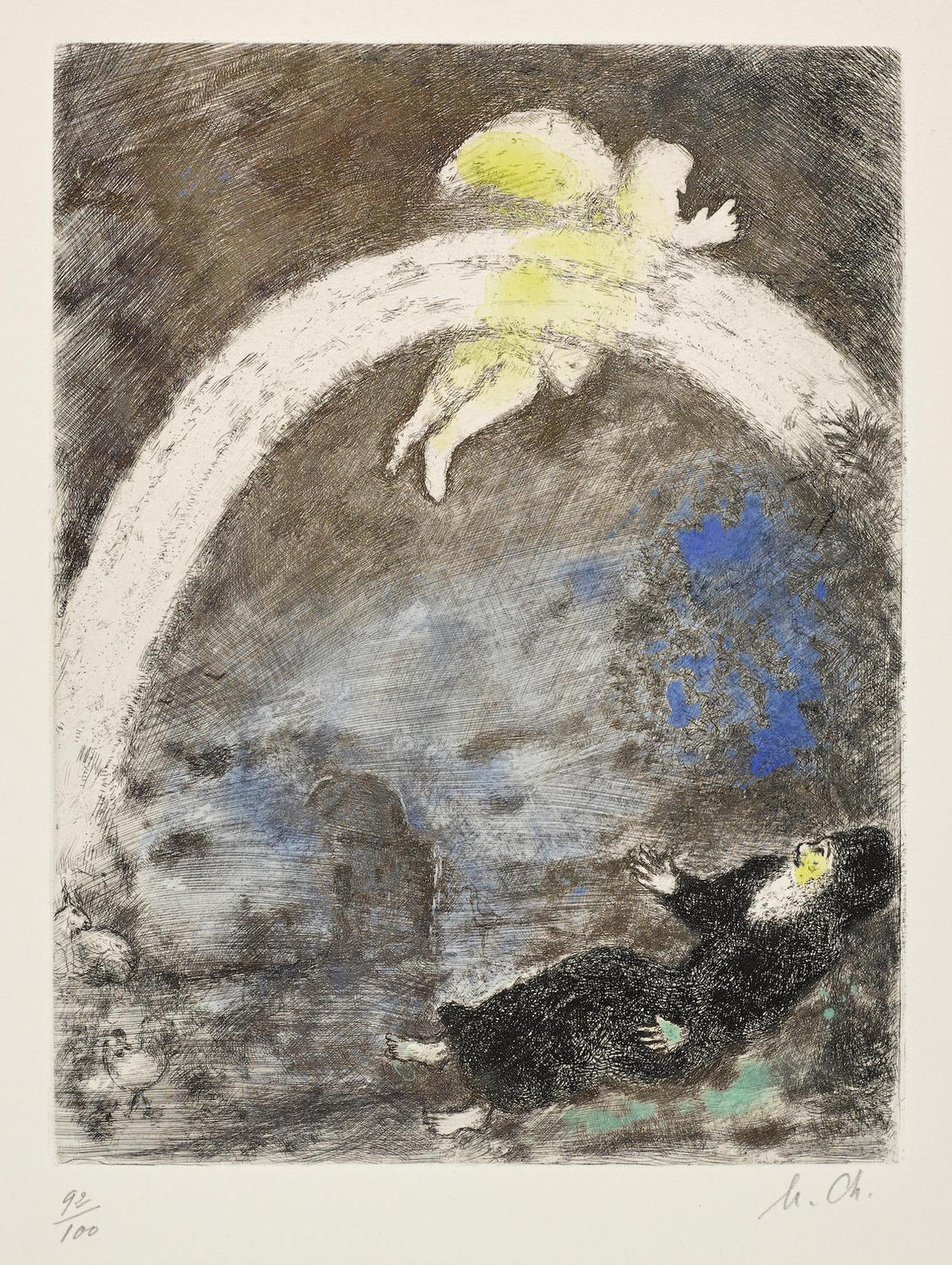 Marc Chagall-Larc En Ciel, Pl. 4, From La Bible-1939