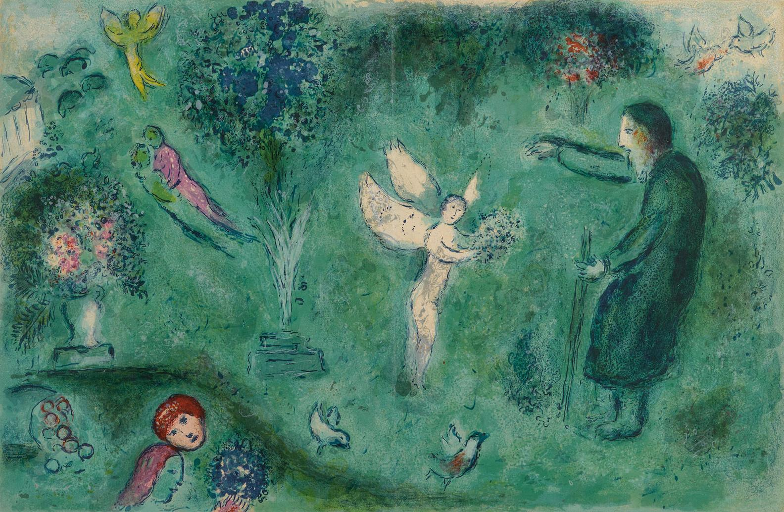 Marc Chagall-Le Verger De Philetas, Pl. 16, From Daphnis & Chloe-1961