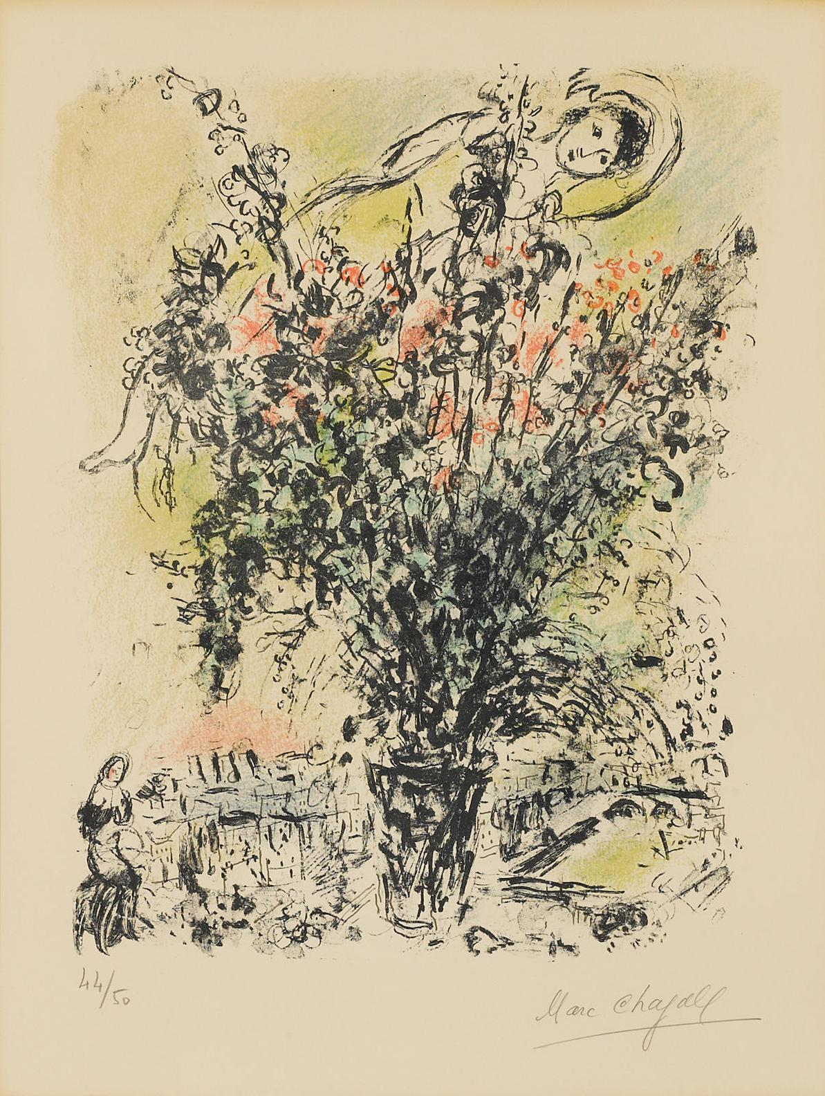 Marc Chagall-Le Bouquet De Paris-1971