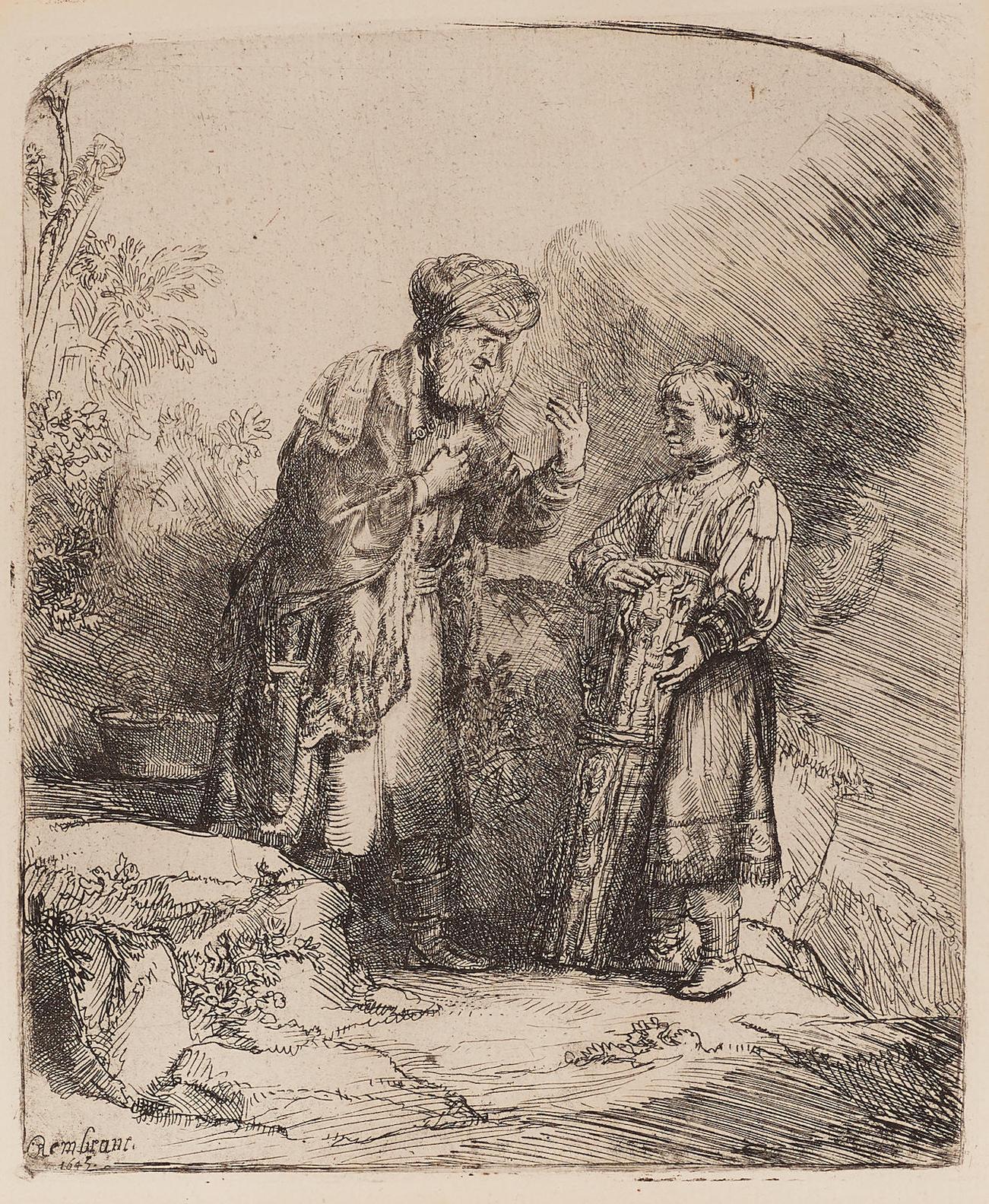 Rembrandt van Rijn-Abraham And Issac-1645