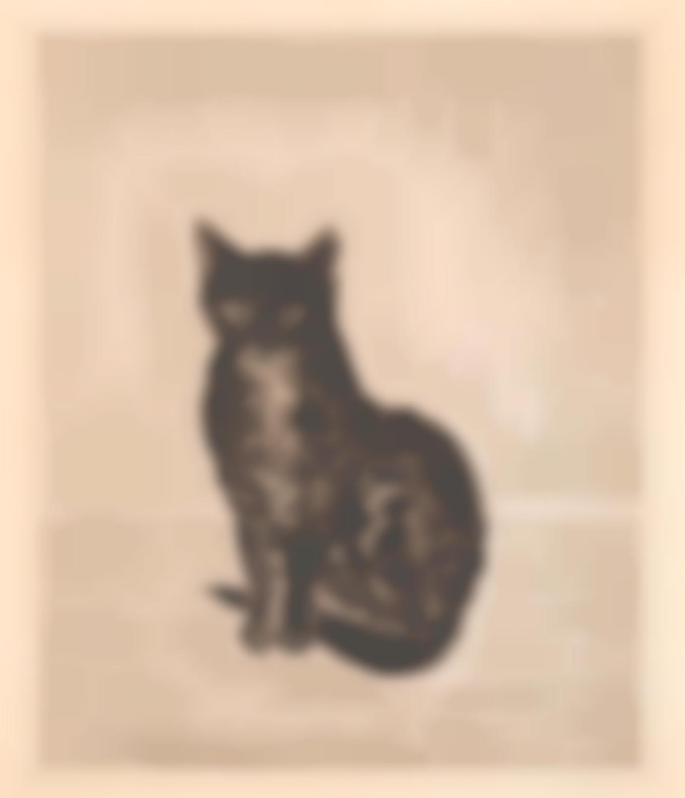 Tsuguharu Foujita-Chat Noir-1929