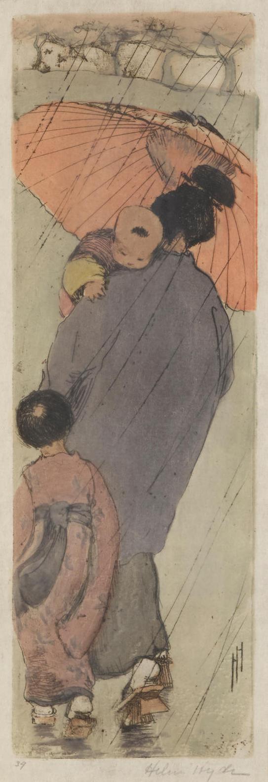 Helen Hyde - Red Umbrella; Baby Talk; White Peacock 3-1914