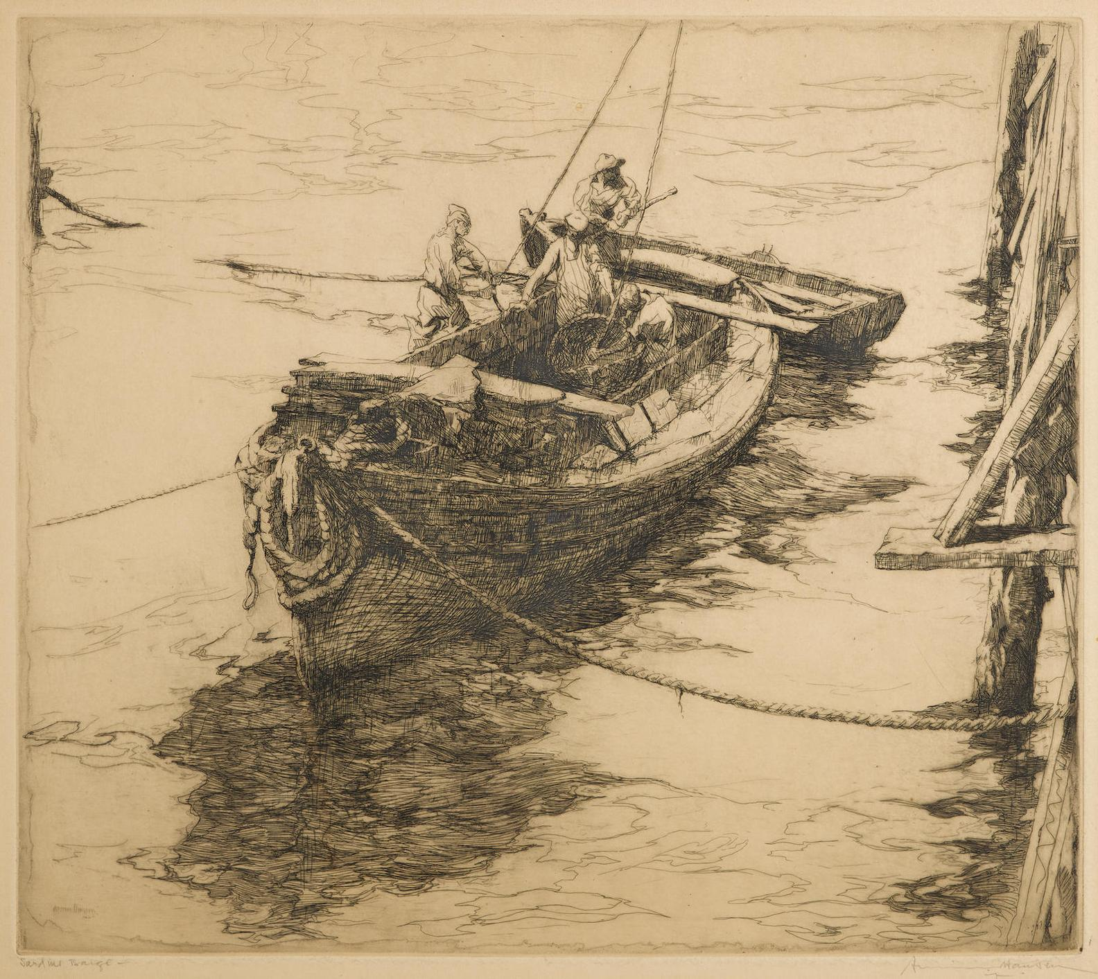Armin Carl Hansen-Sardine Barge-1922