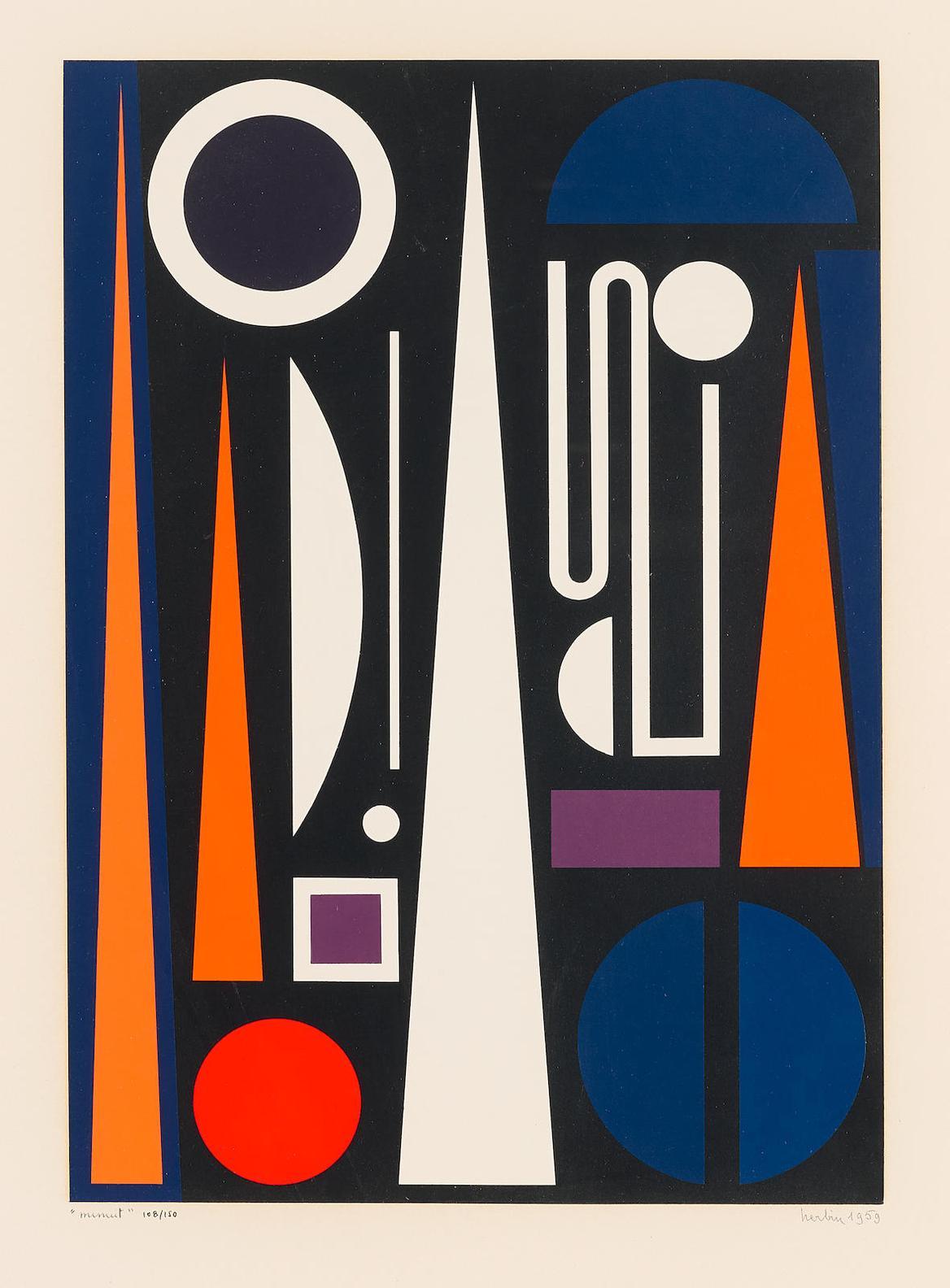 Auguste Herbin-Minuit-1959