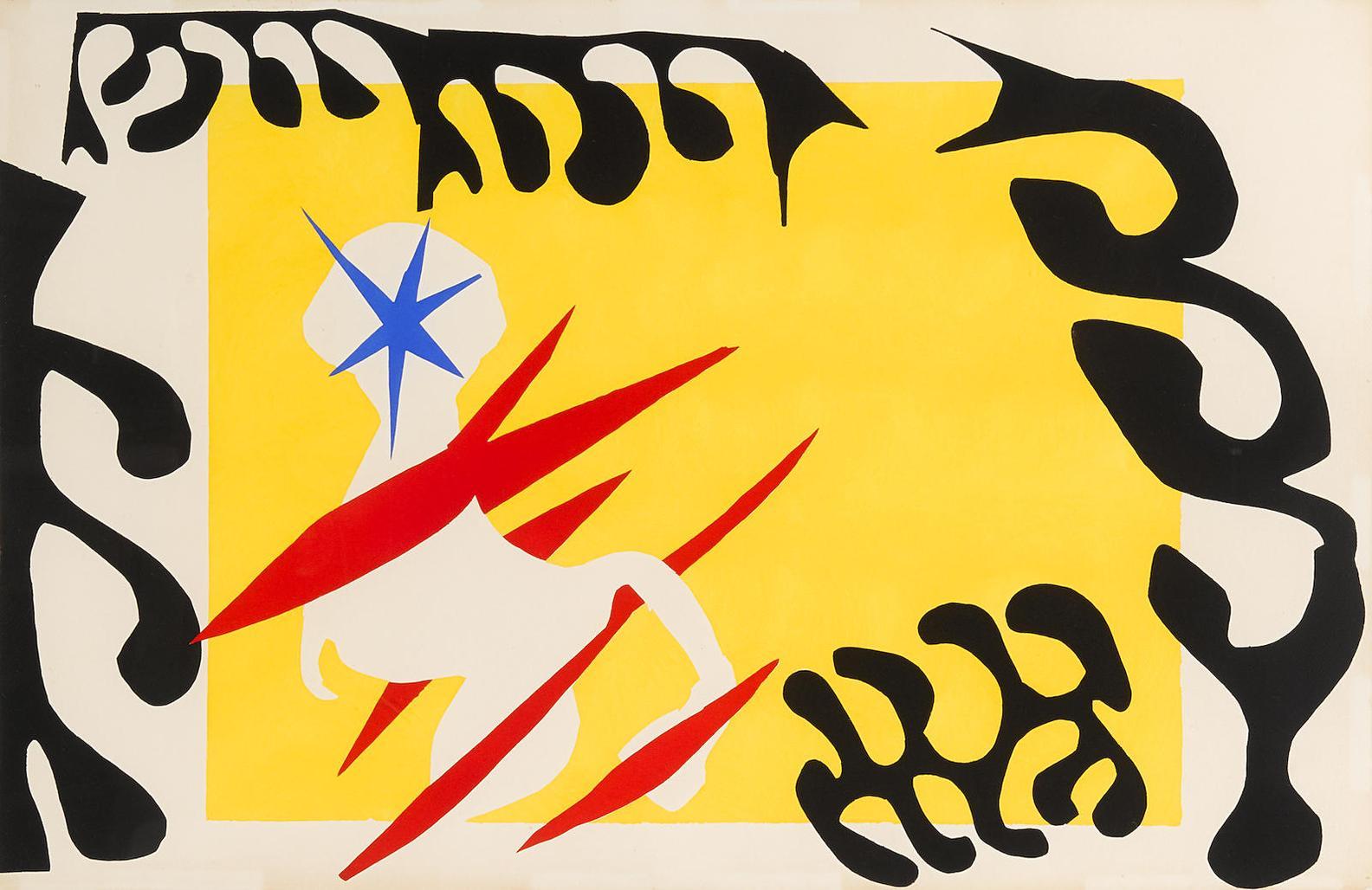 Henri Matisse-Le Cauchemar De Lelephant Blanc, Pl. VI, From Jazz-1947