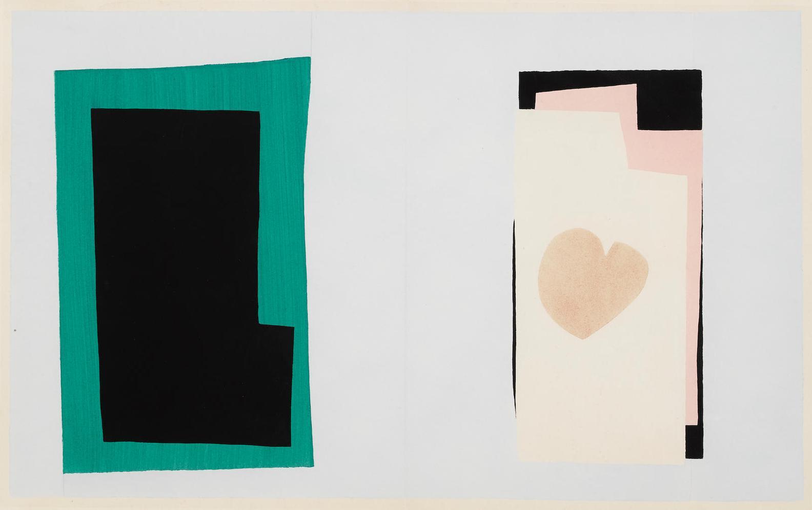 Henri Matisse-Le Coeur, Pl. VII, From Jazz-1947