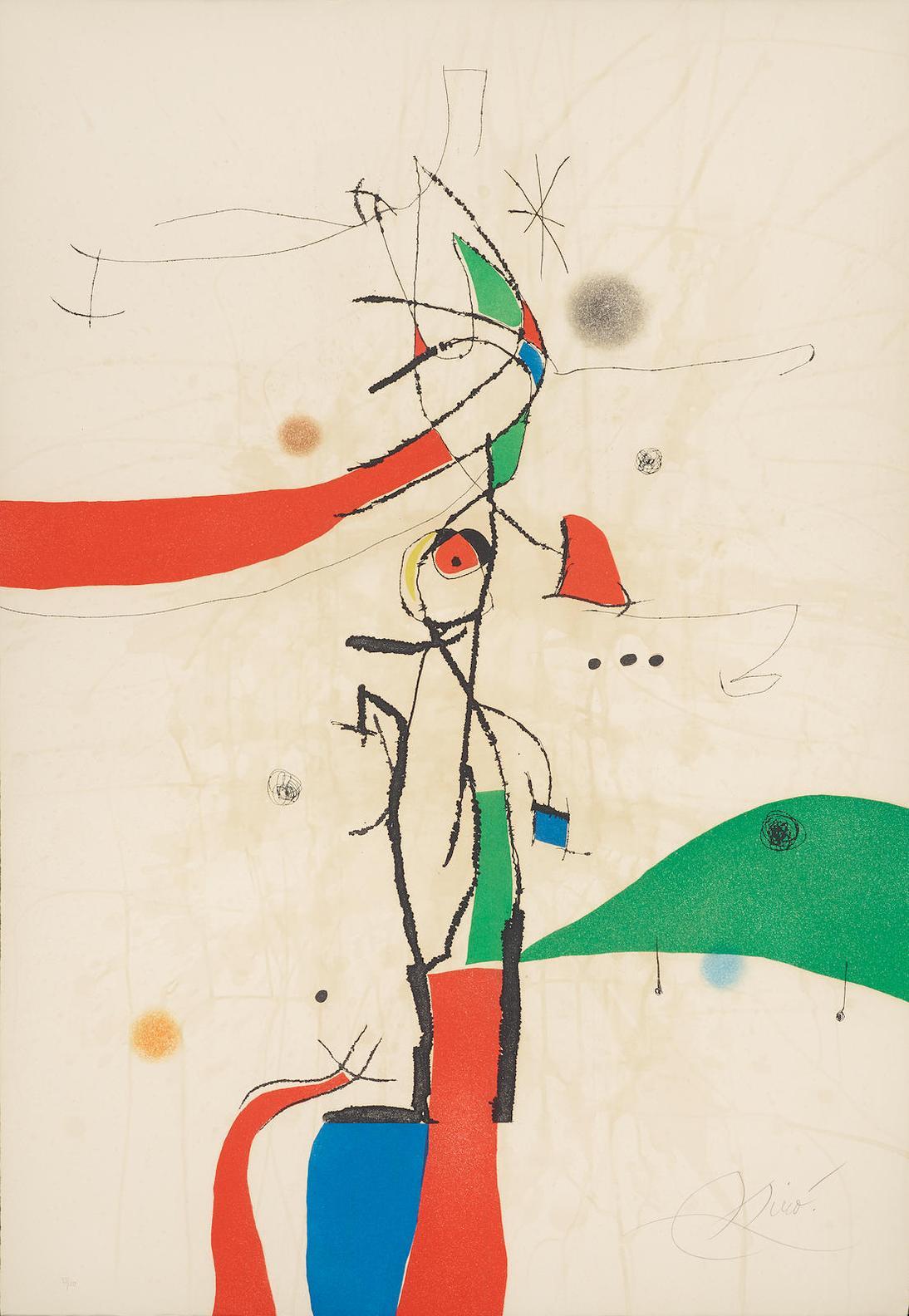 Joan Miro-Demi-Mondaine A Sa Fenetre-1975