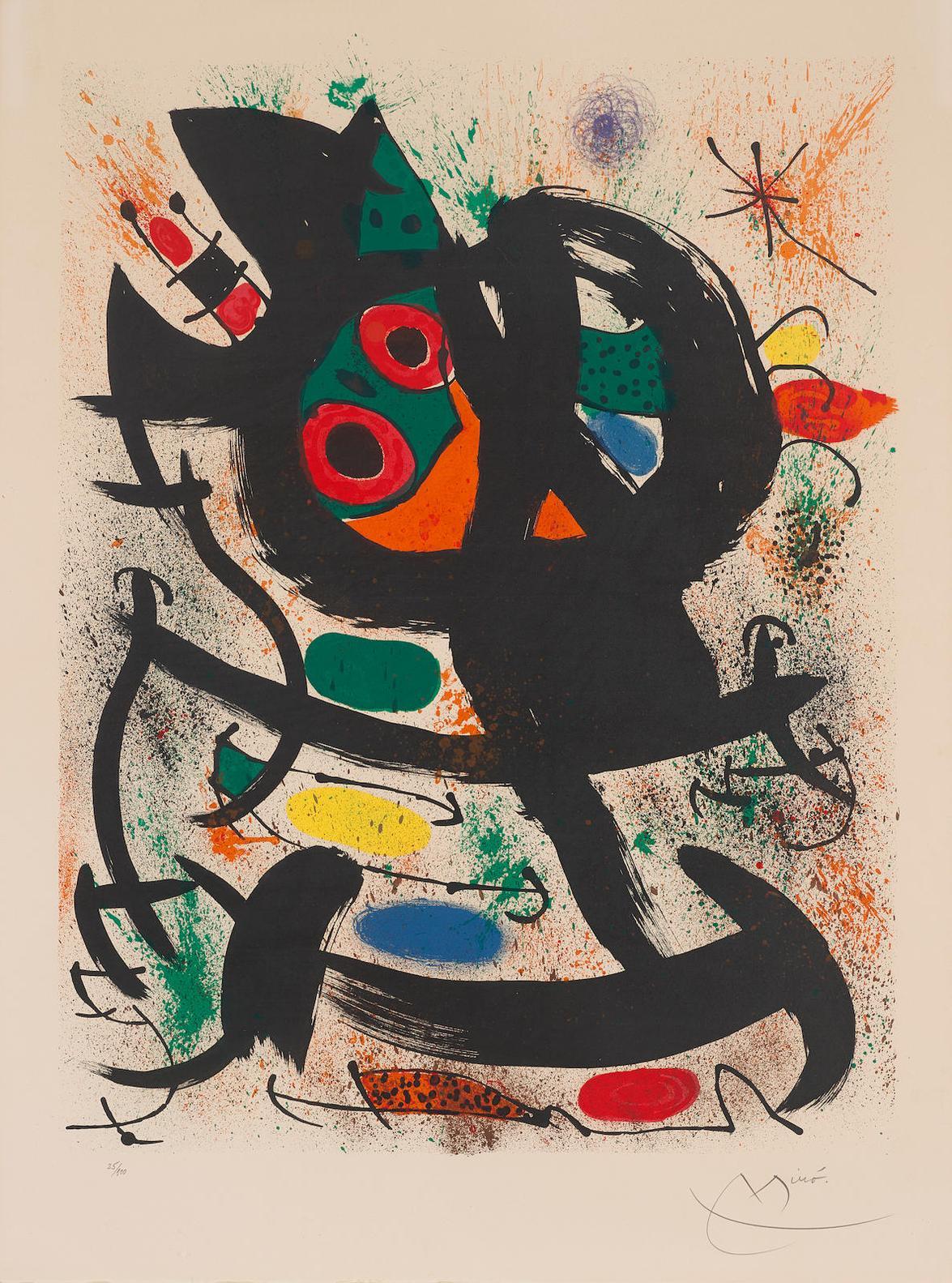 Joan Miro-Exhibition At The Pasadena Art Museum-1969