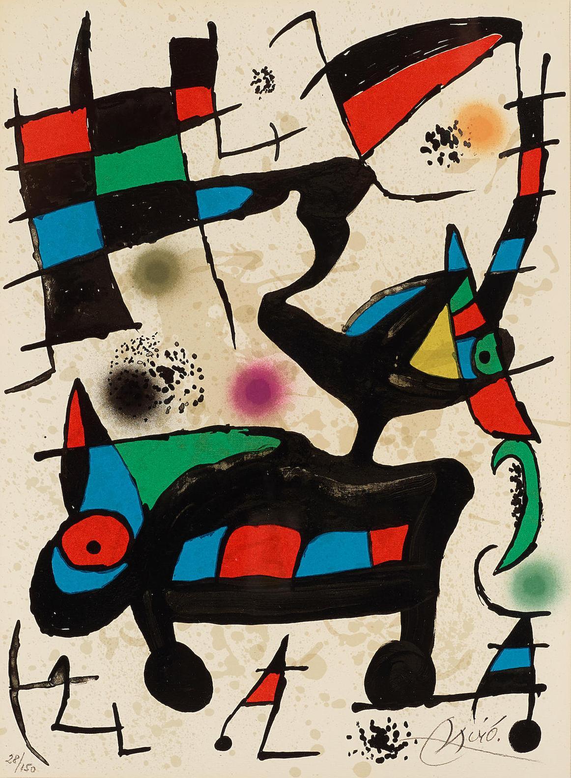 Joan Miro-Untitled, Pl. 1, From Oda A Joan Miro-1973