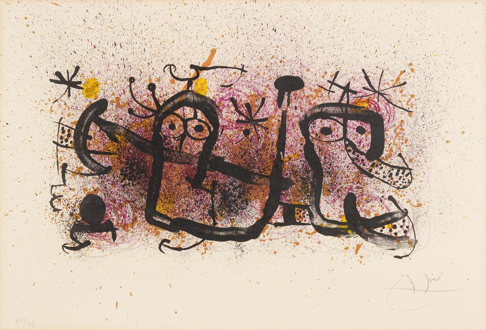 Joan Miro-Pl. 6, From Ma De Proverbis-1970