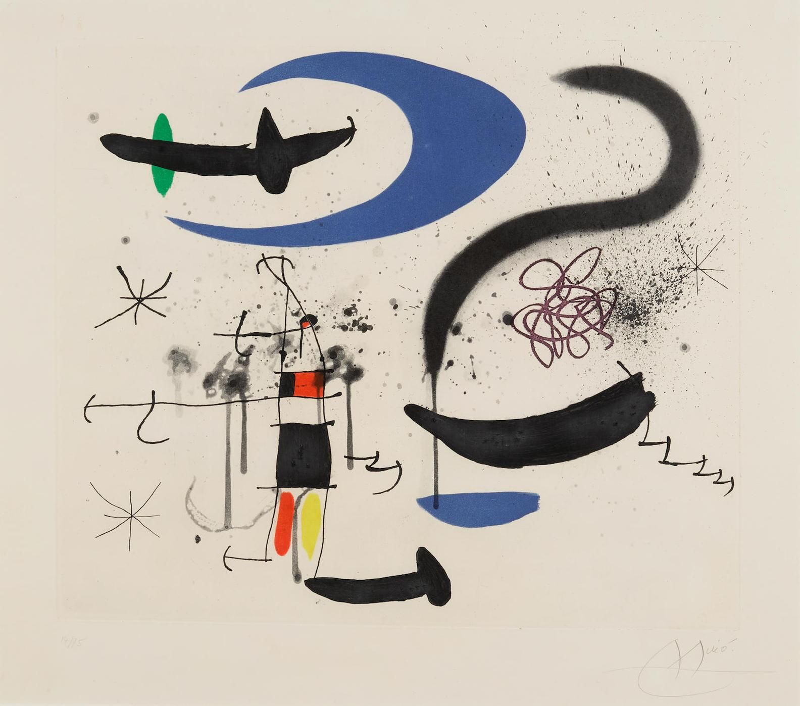 Joan Miro-Lescalier De La Nuit-1970