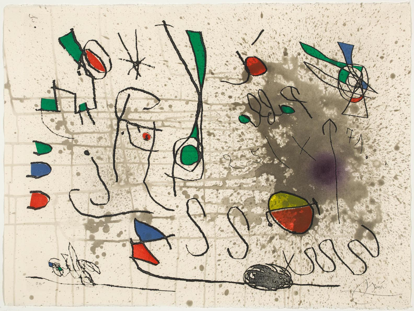 Joan Miro-Hommage A Picasso-1972