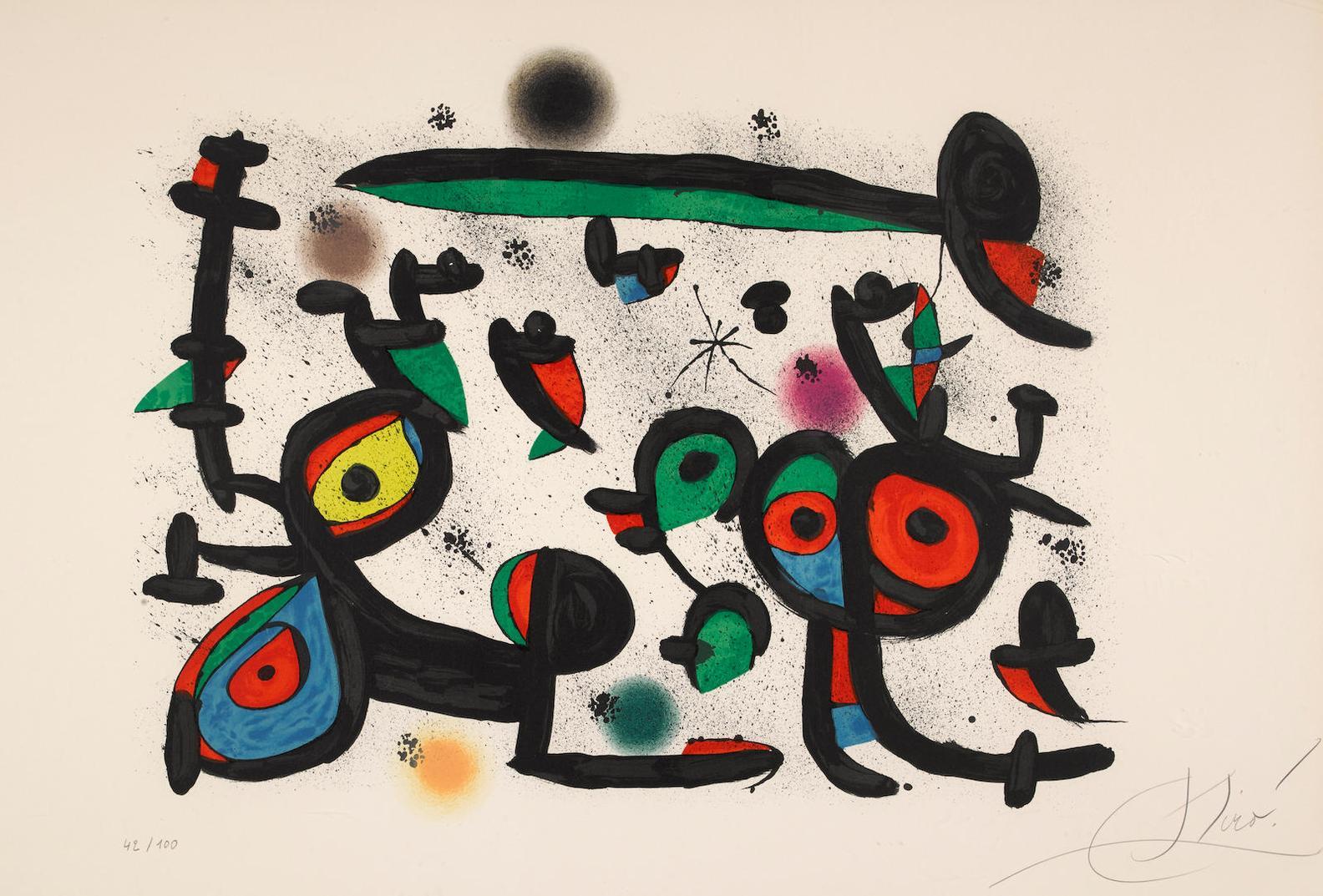 Joan Miro-Les Amoureux Et Luna Park I-1981