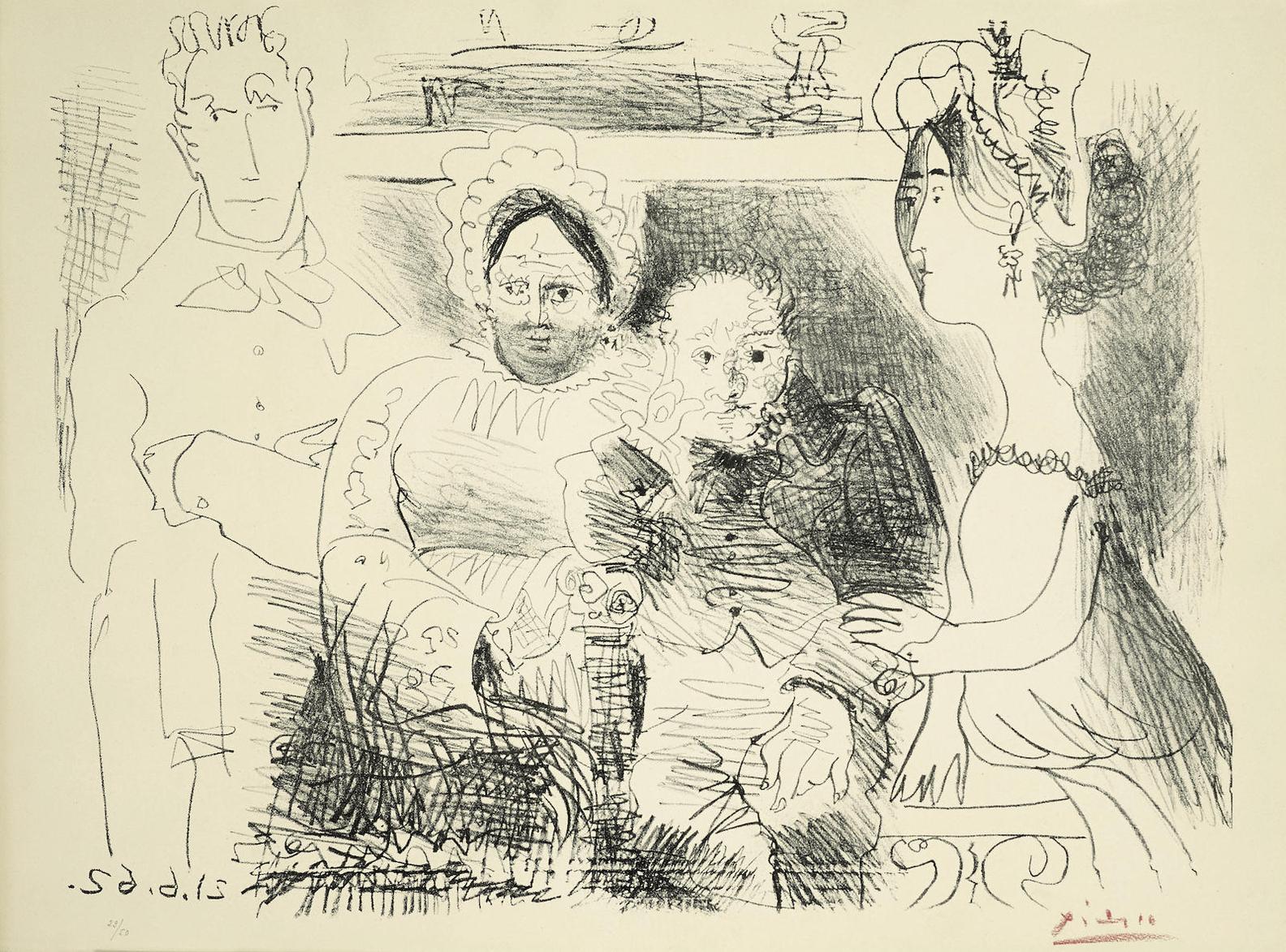 Pablo Picasso-Portrait De Famille, Homme Aux Bras Croises-1962