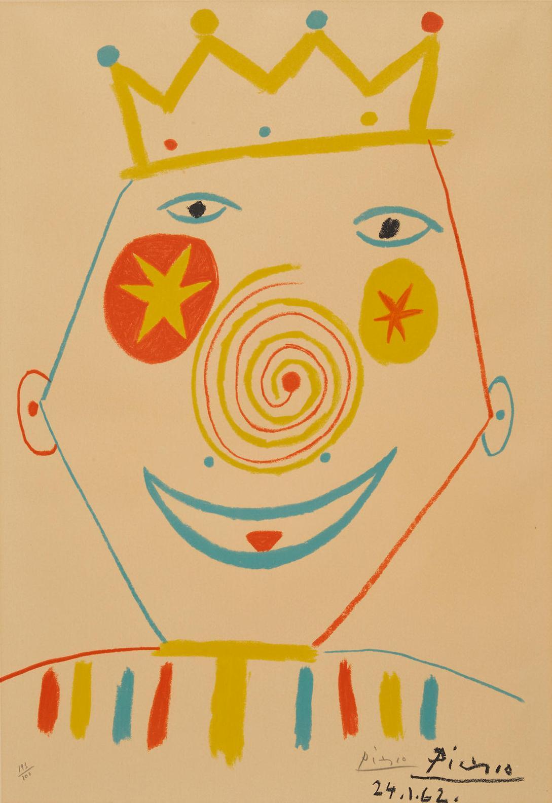 After Pablo Picasso - Le Clown-1962