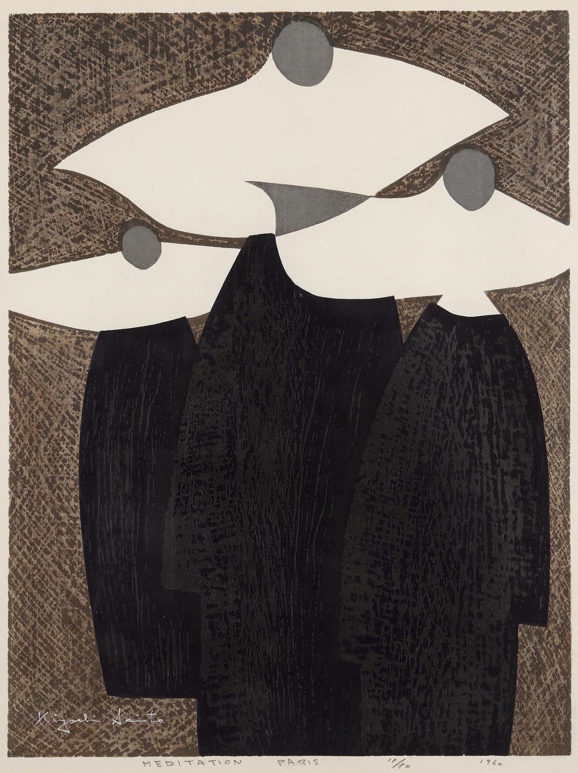 Kiyoshi Saito-Meditation, Paris-1960