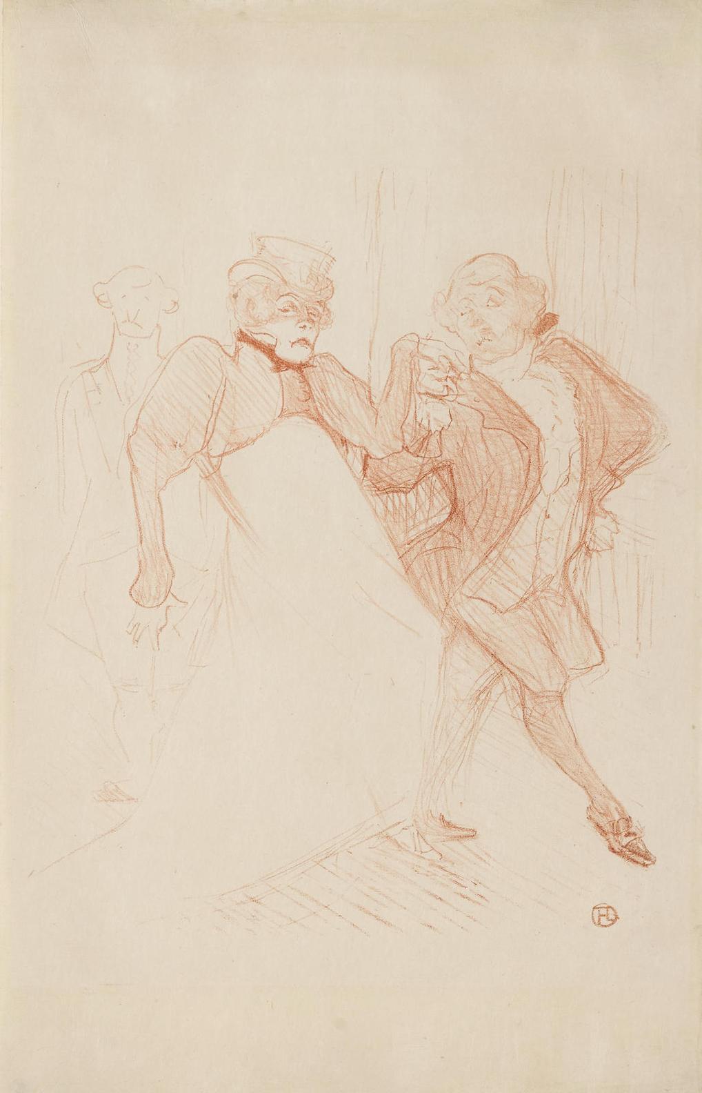 Henri de Toulouse-Lautrec-Rejane Et Galipaux, Dans Madame Sans-Gene-1893