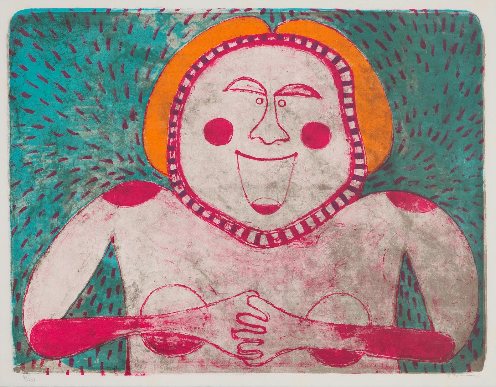 Rufino Tamayo-Mujer Sonriente, From Mujeres-1969