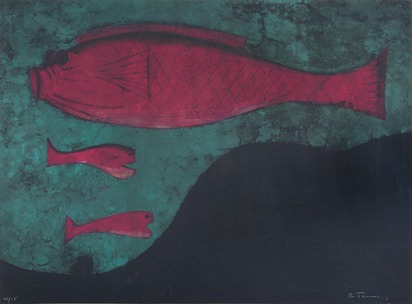 Rufino Tamayo-Peces, From Rufino Tamayo 15 Litografias-1973