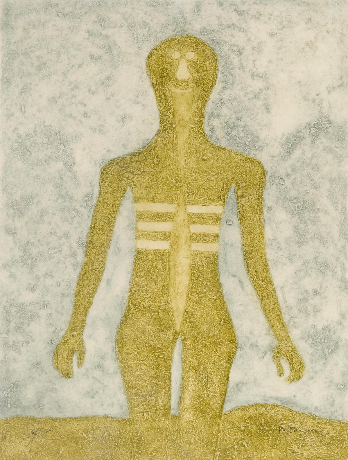 Rufino Tamayo-Figura En Ocre, From Rufino Tamayo 16 Aguafuertes-1976